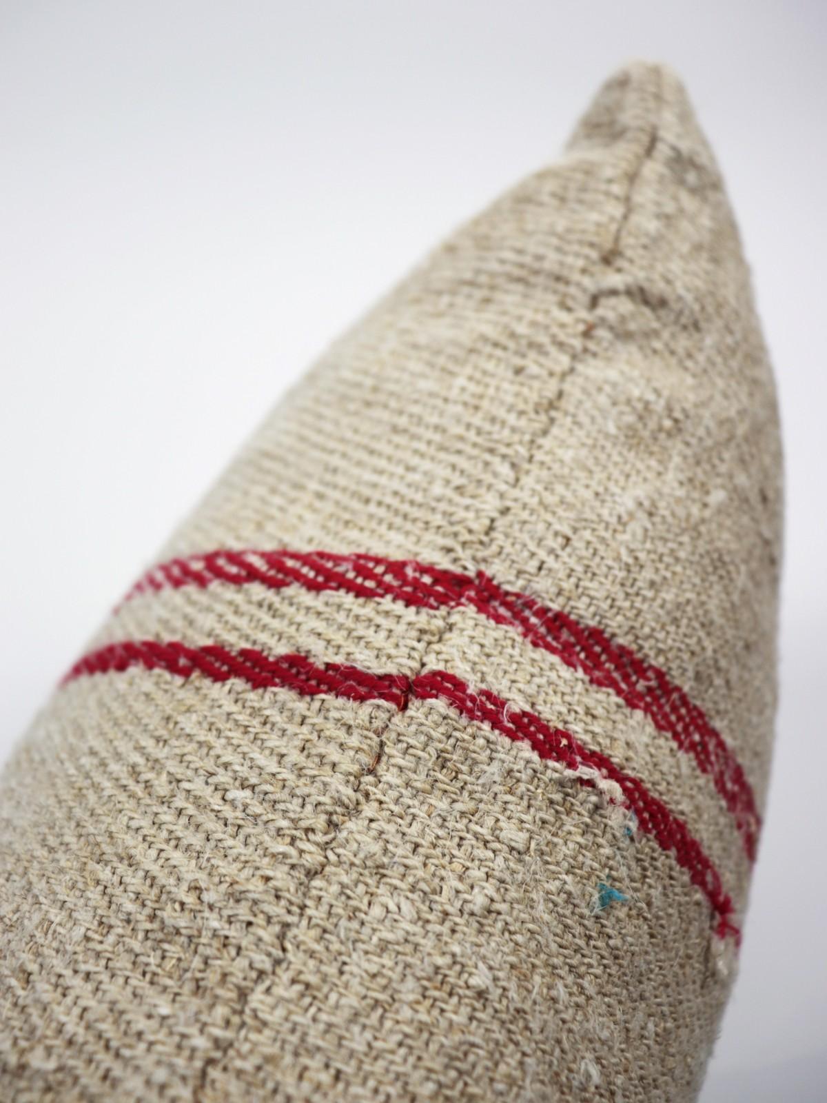 grain sack, brown remake, cushion