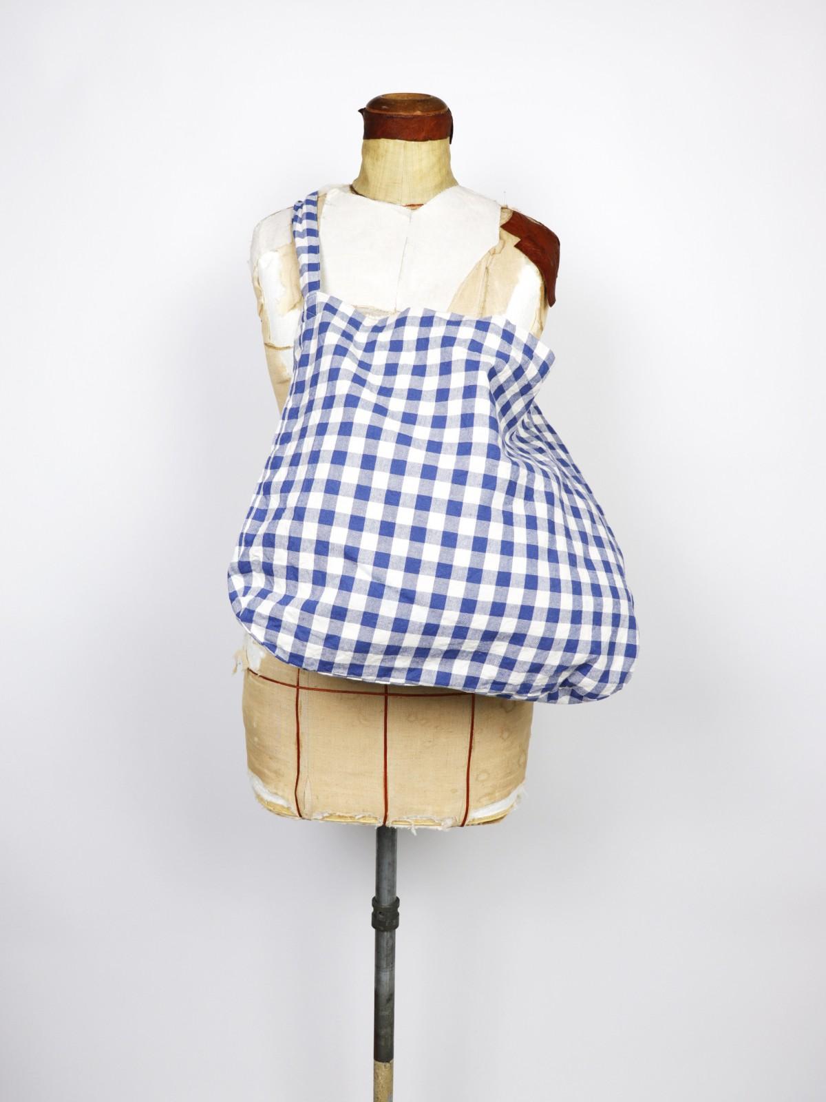 cotton check,Brown.remake, bag, USA