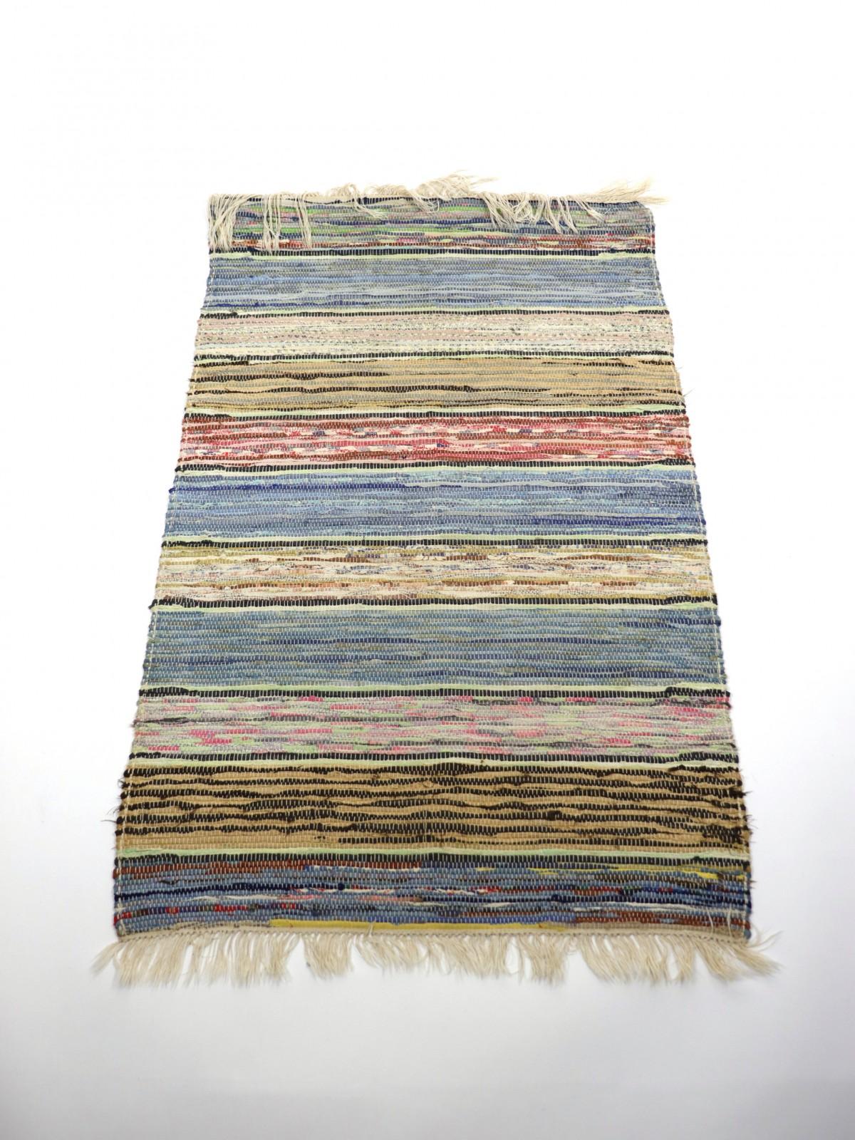 swedish rag rug, cotton, 1930's