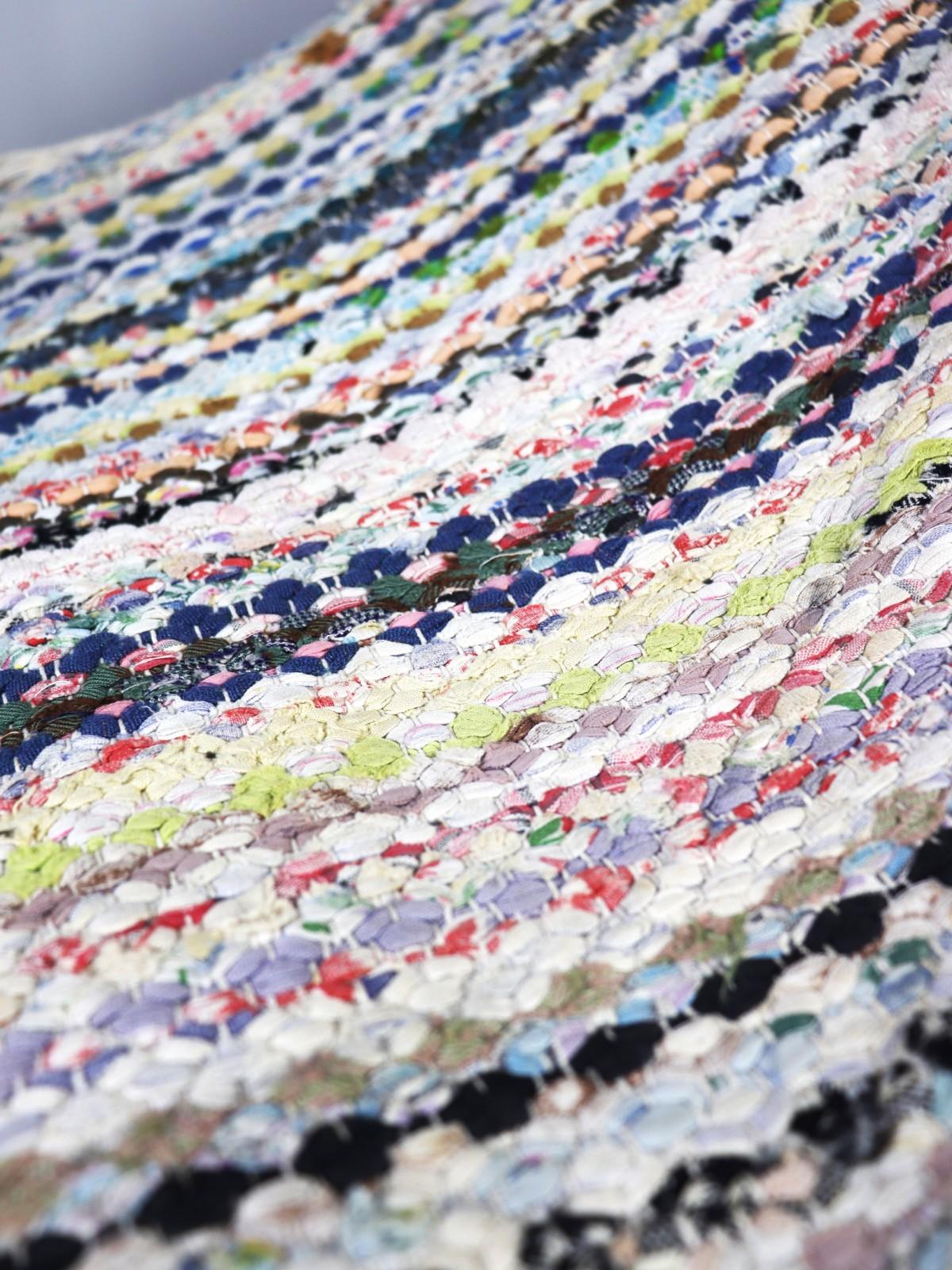 Swedish rag rug , cotton, 1930-1950's