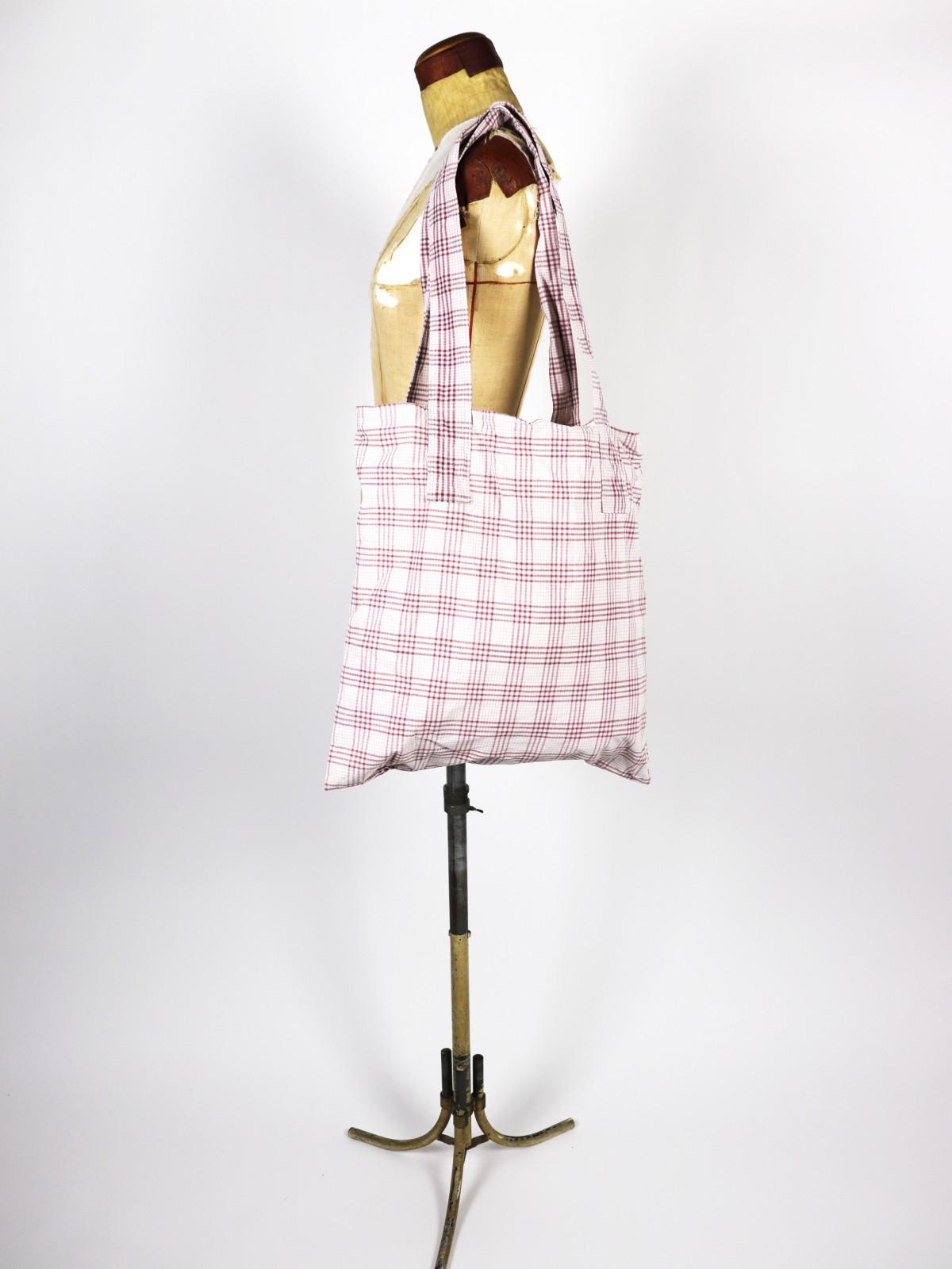 German fabric ,Cotton check,Bag,