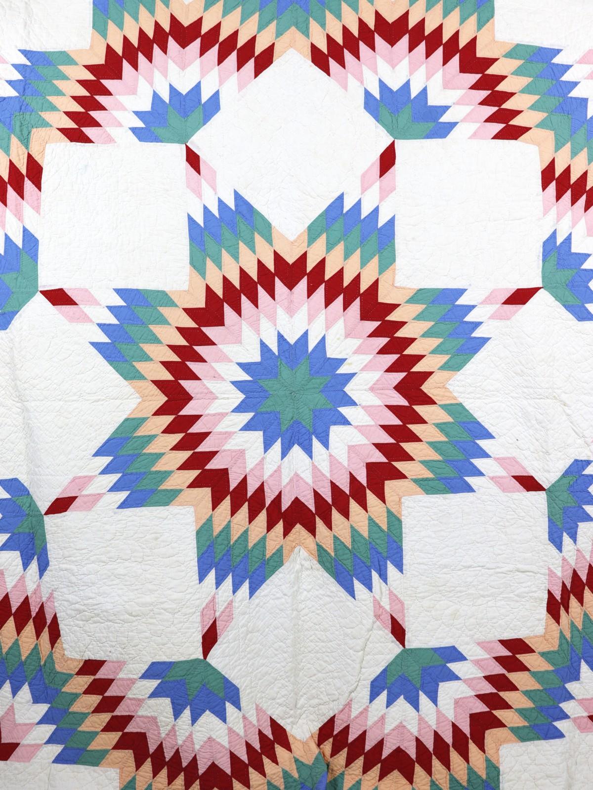 Antique、handmade quilt, 1900's, USA,BROWN.