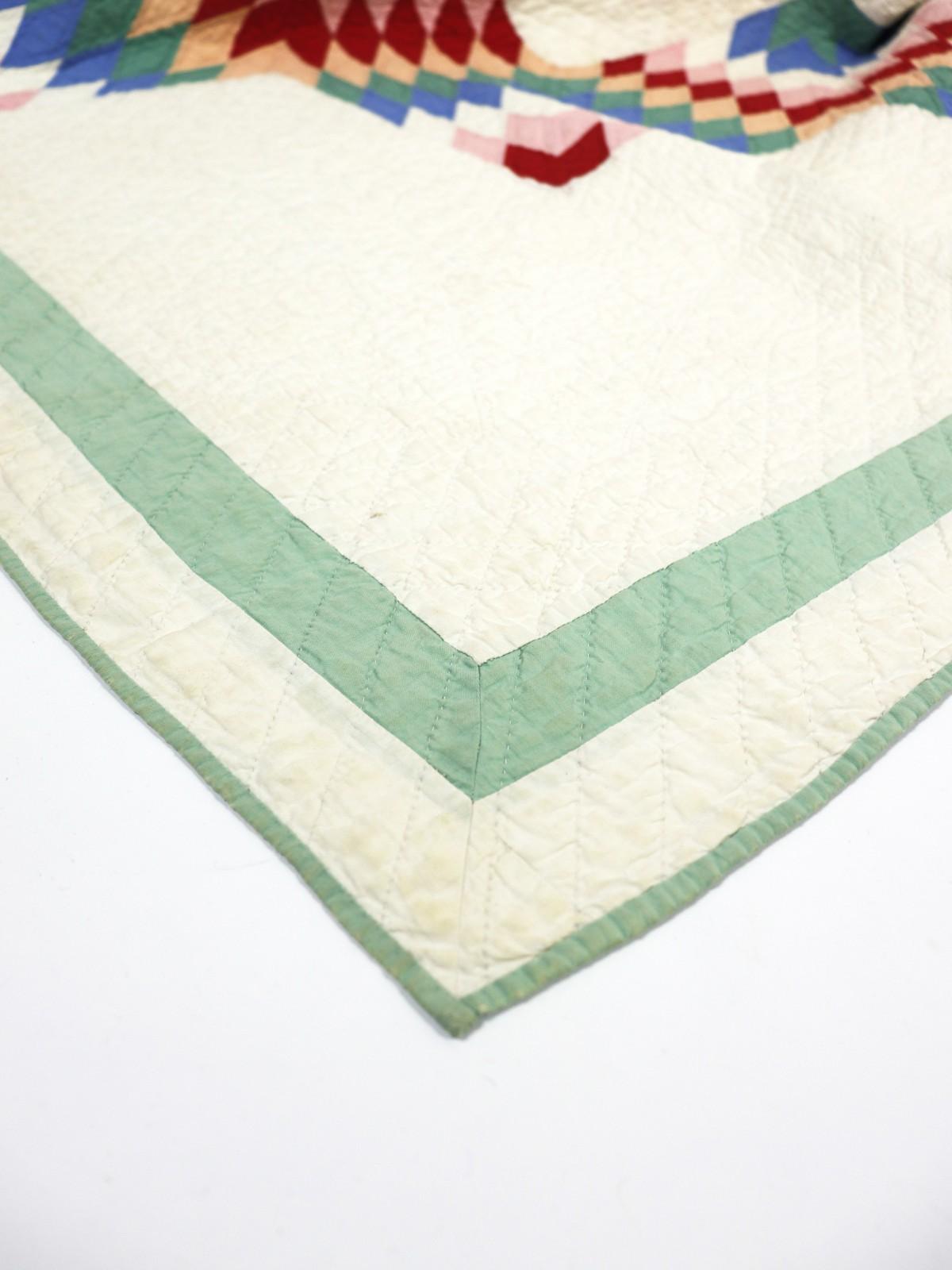 Antique, handmade quilt, USA,1900's, BROWN.