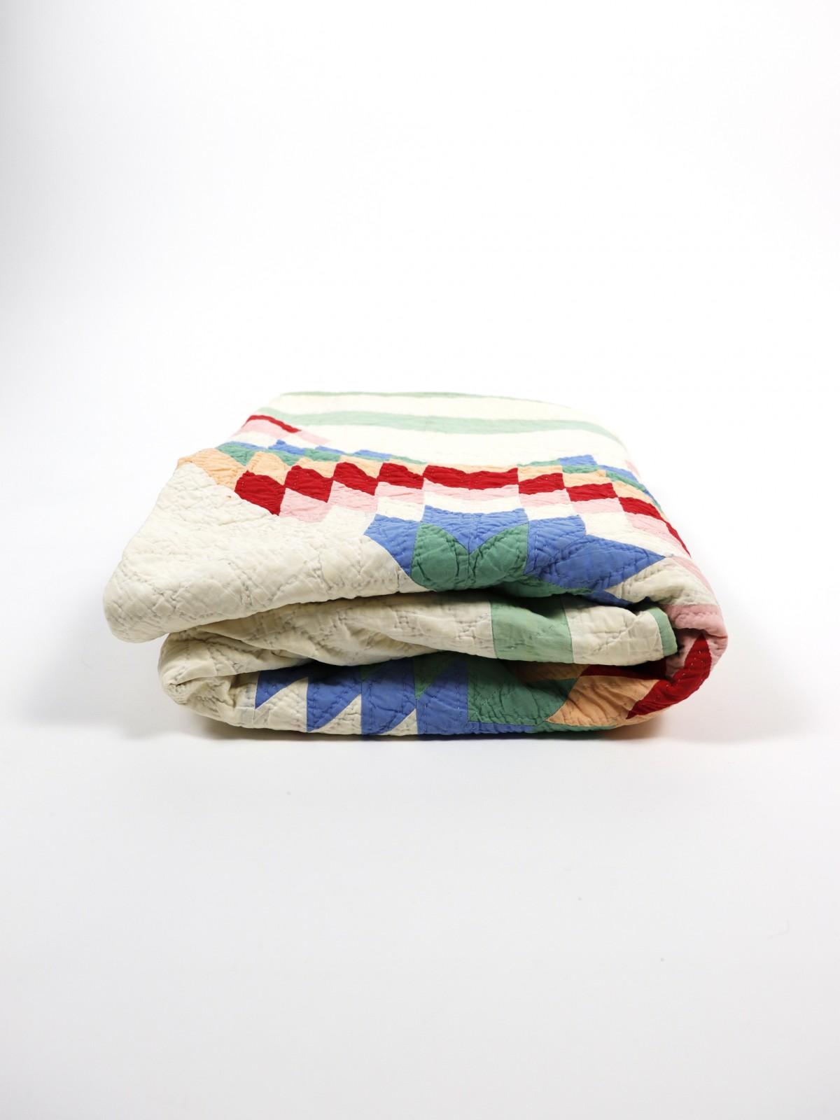 Antique, Handmade quilt, 1900's, USA, BROWN.