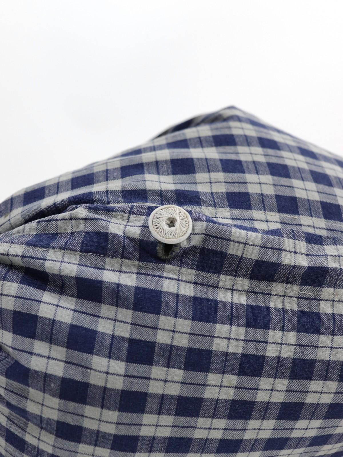 German cotton check fabric , Brown.remake, Cushion