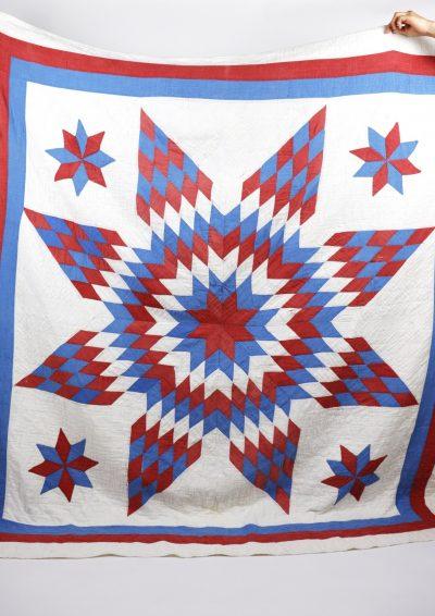 Quilt, 1900's,USA, antque, Lone star quilt