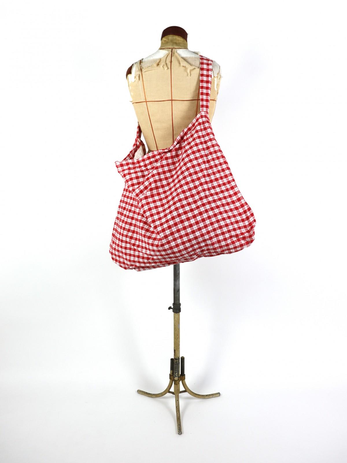 german cotton fabric, brown.remake, bag