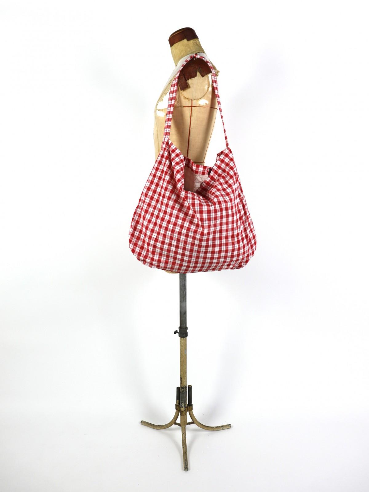 German cotton check fabric,brown.remake,bag