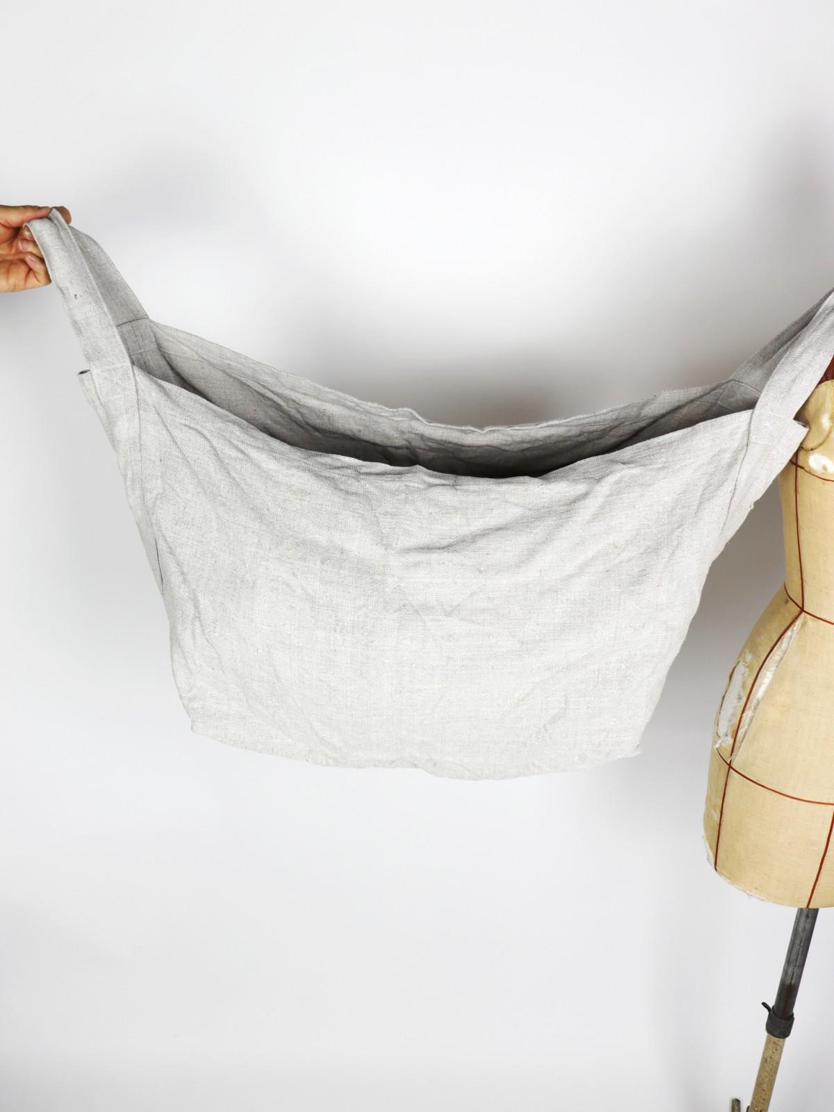 Dead stock linen, BROWN.remake, bag