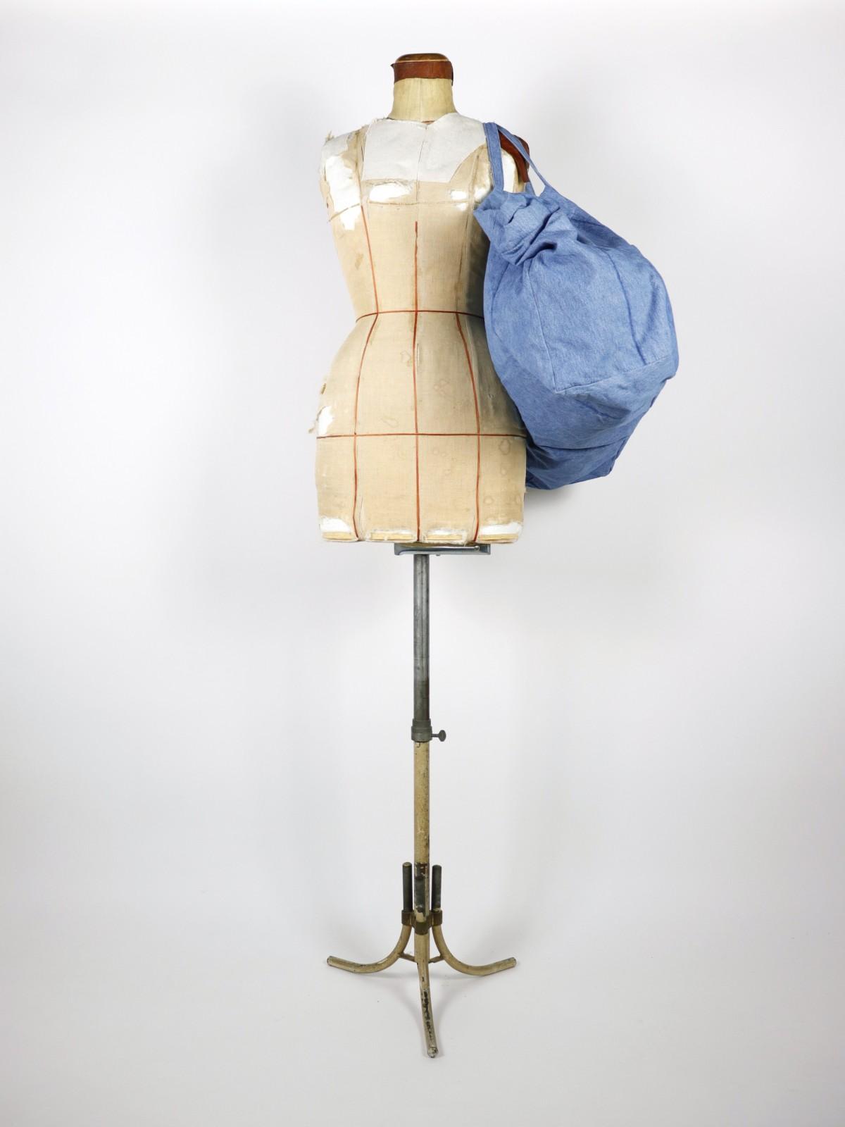 ralph lauren, denim fabric, 1970's, bag, brown.remake