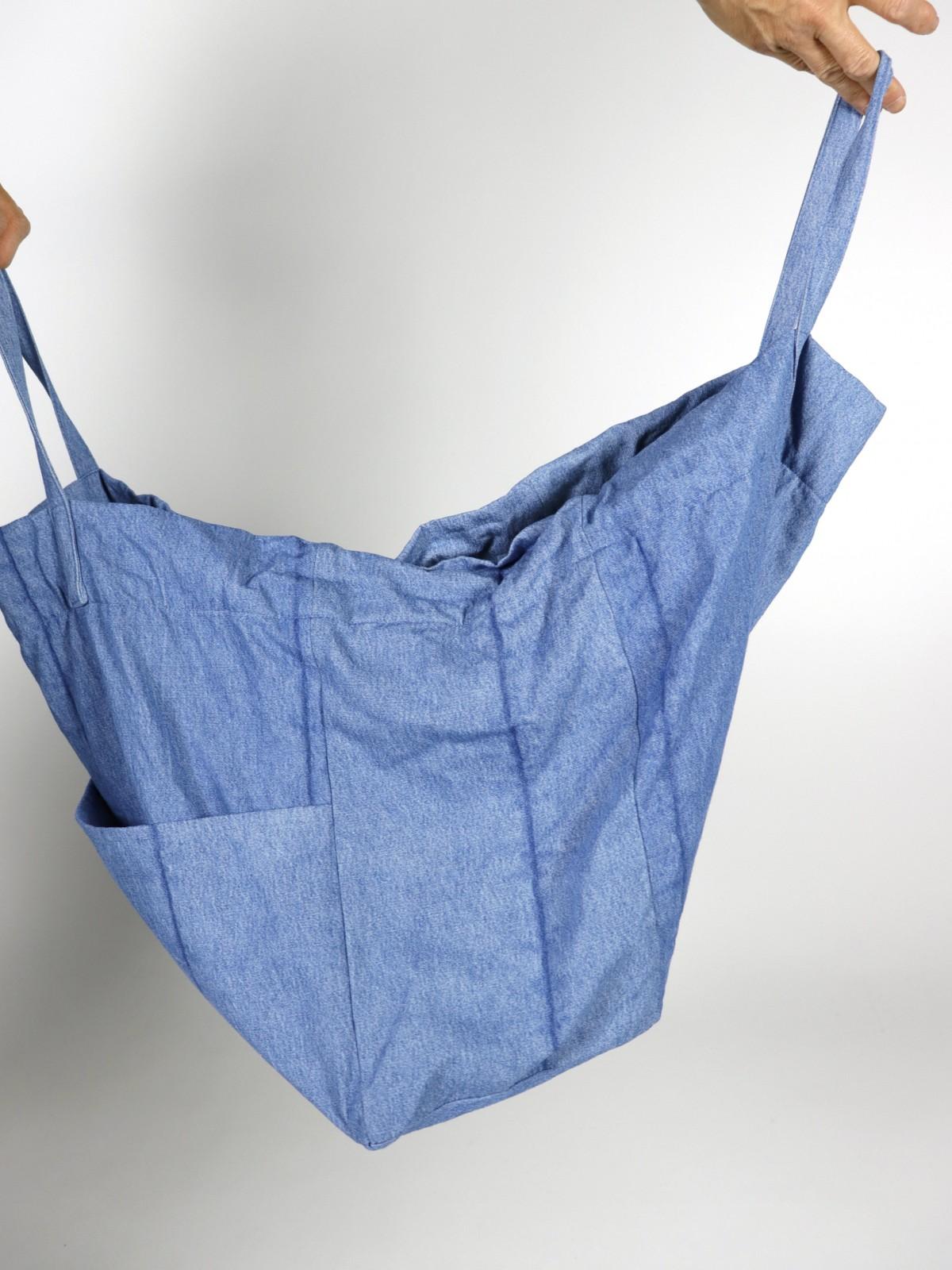 ralph lauren, brown.remake, bag, denim fabric