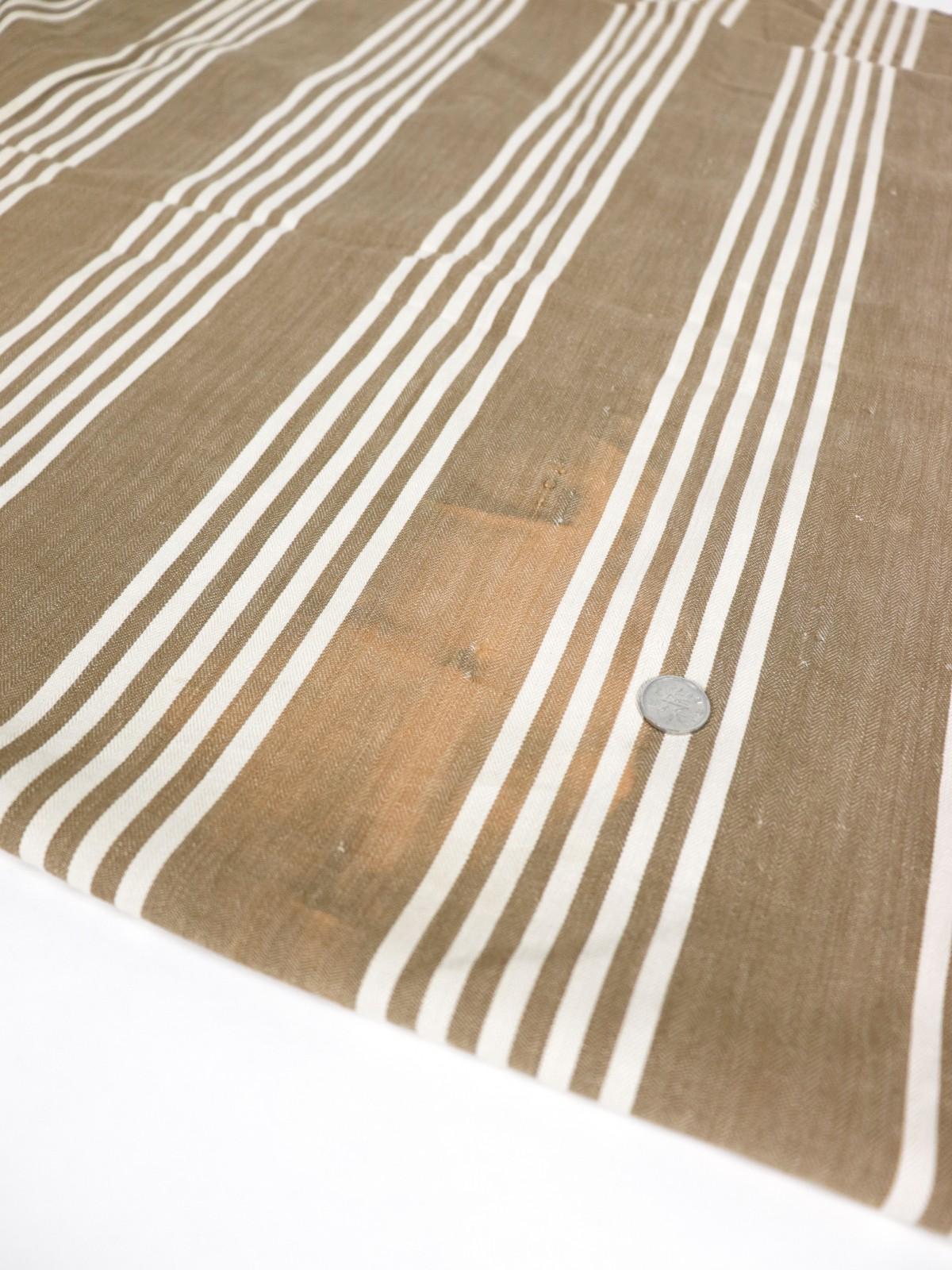 french cotton fabric,ticking cotton , beige stripe