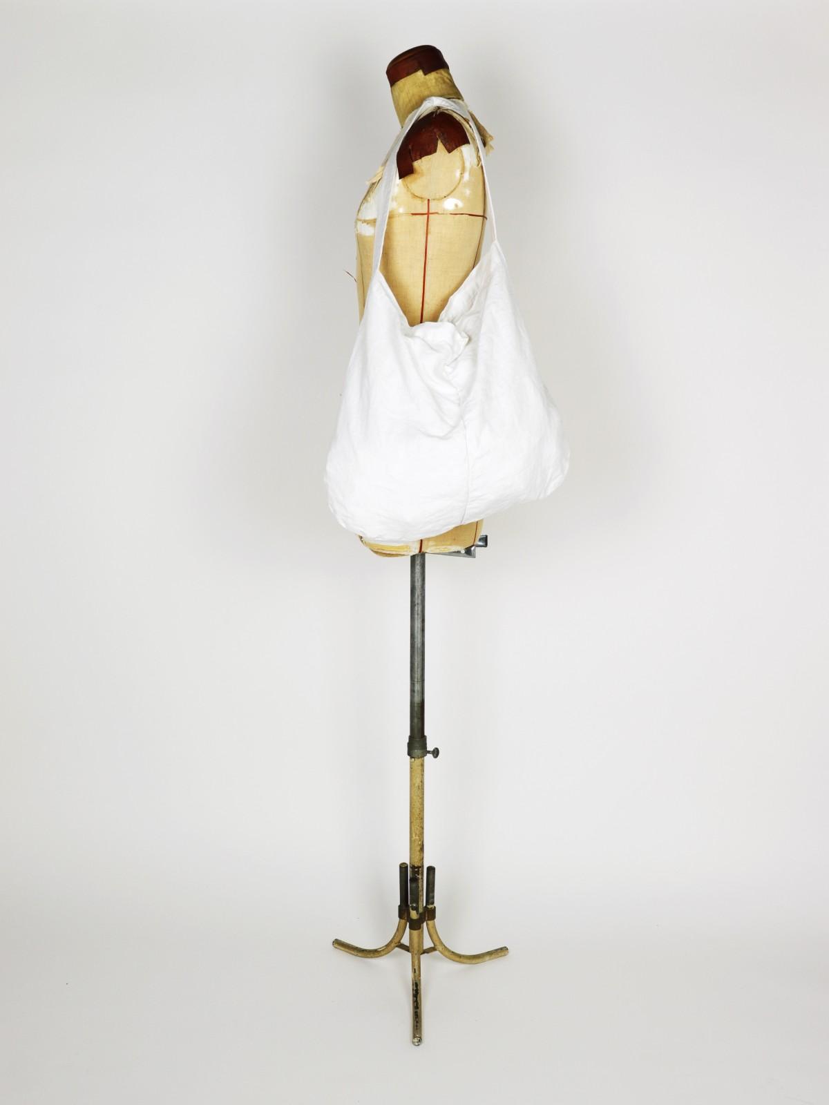 vintage linen, french linen fabric, brown.remake, bag