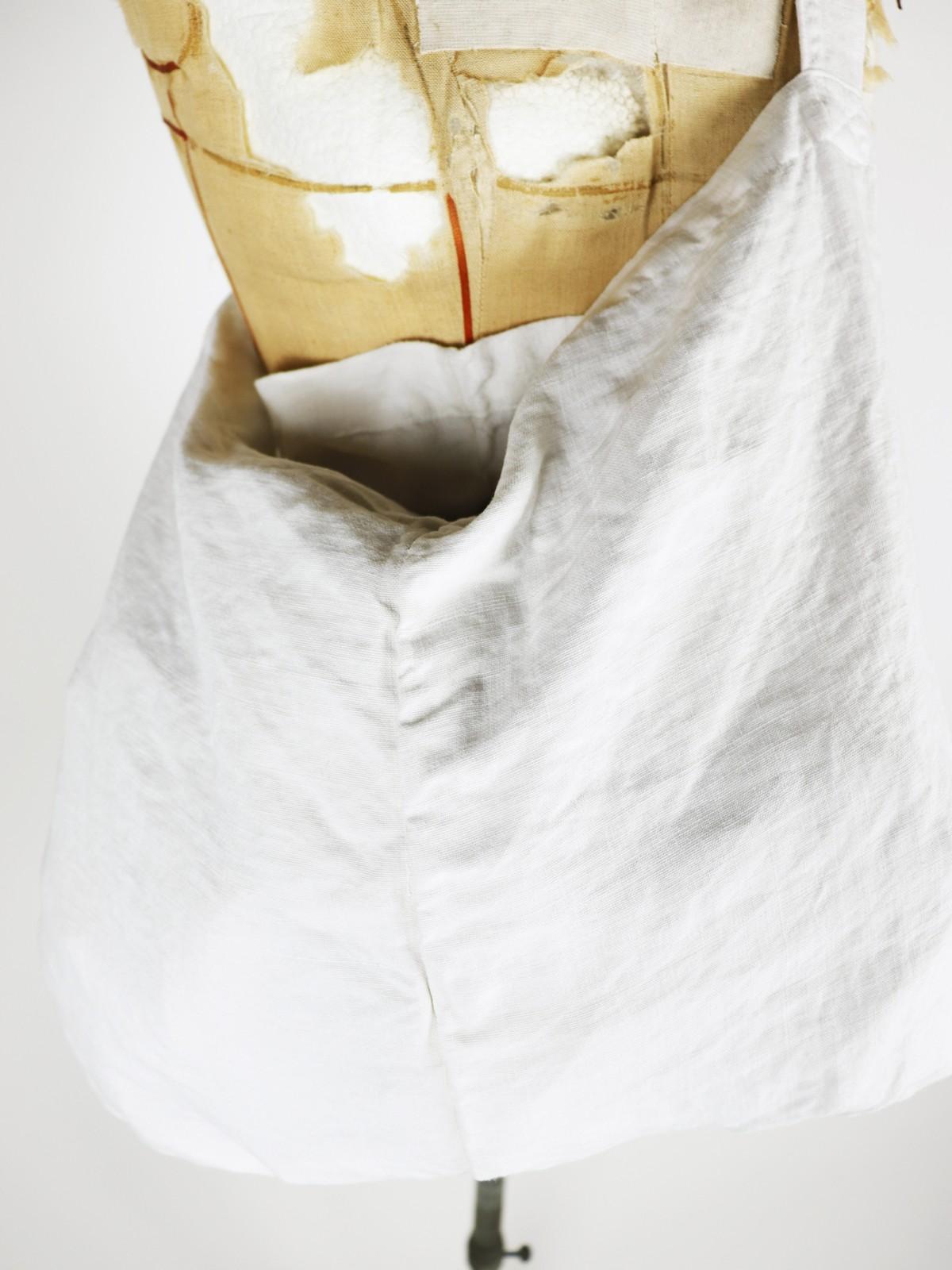vintage linen, french linen fabric, bag, brown.remake