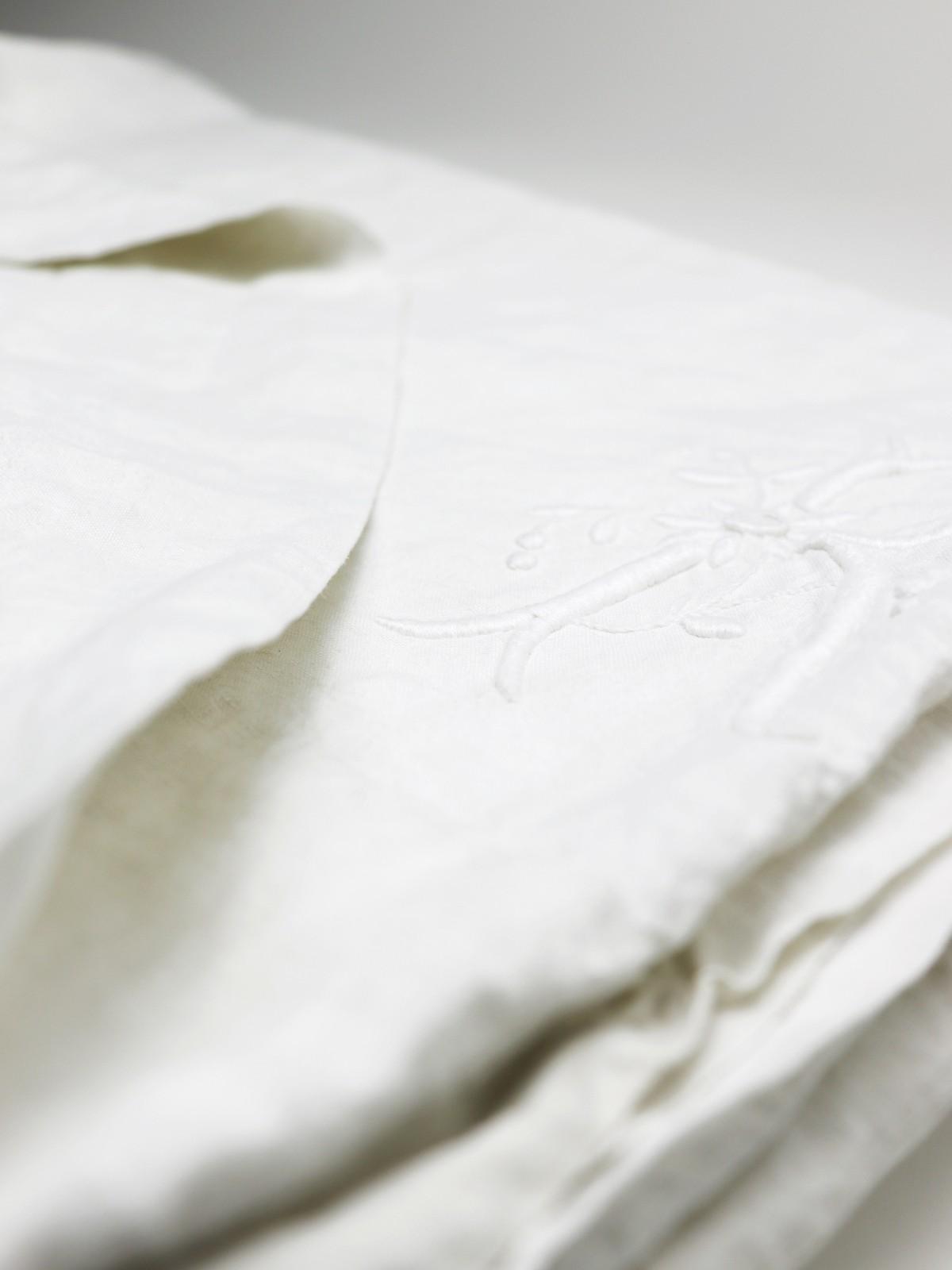 white linen, french linen,sheet, white monogram,