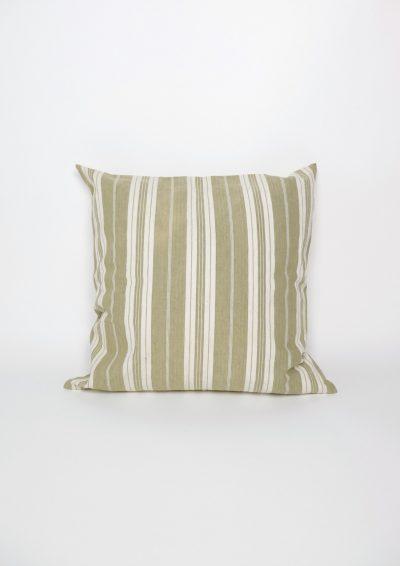 vintage ticking linen cushion, french linen cushion, brown.remake cushion