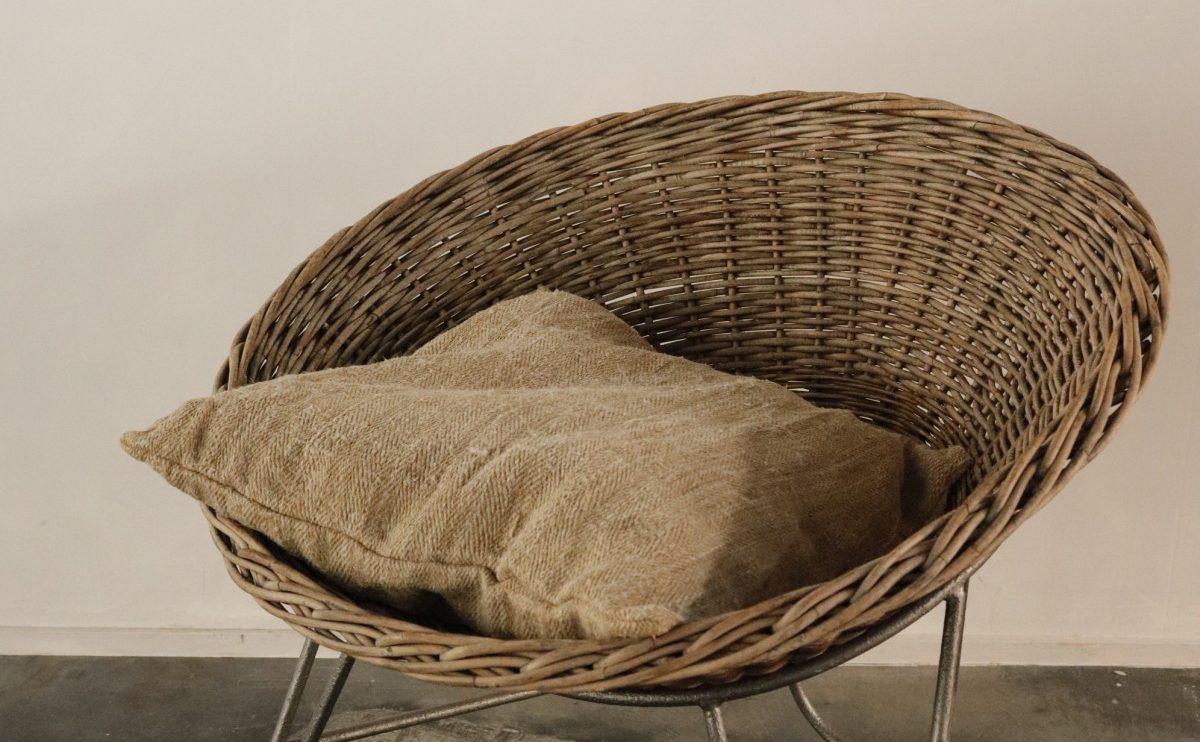 rattan chair, basket chair, 1950's, germany