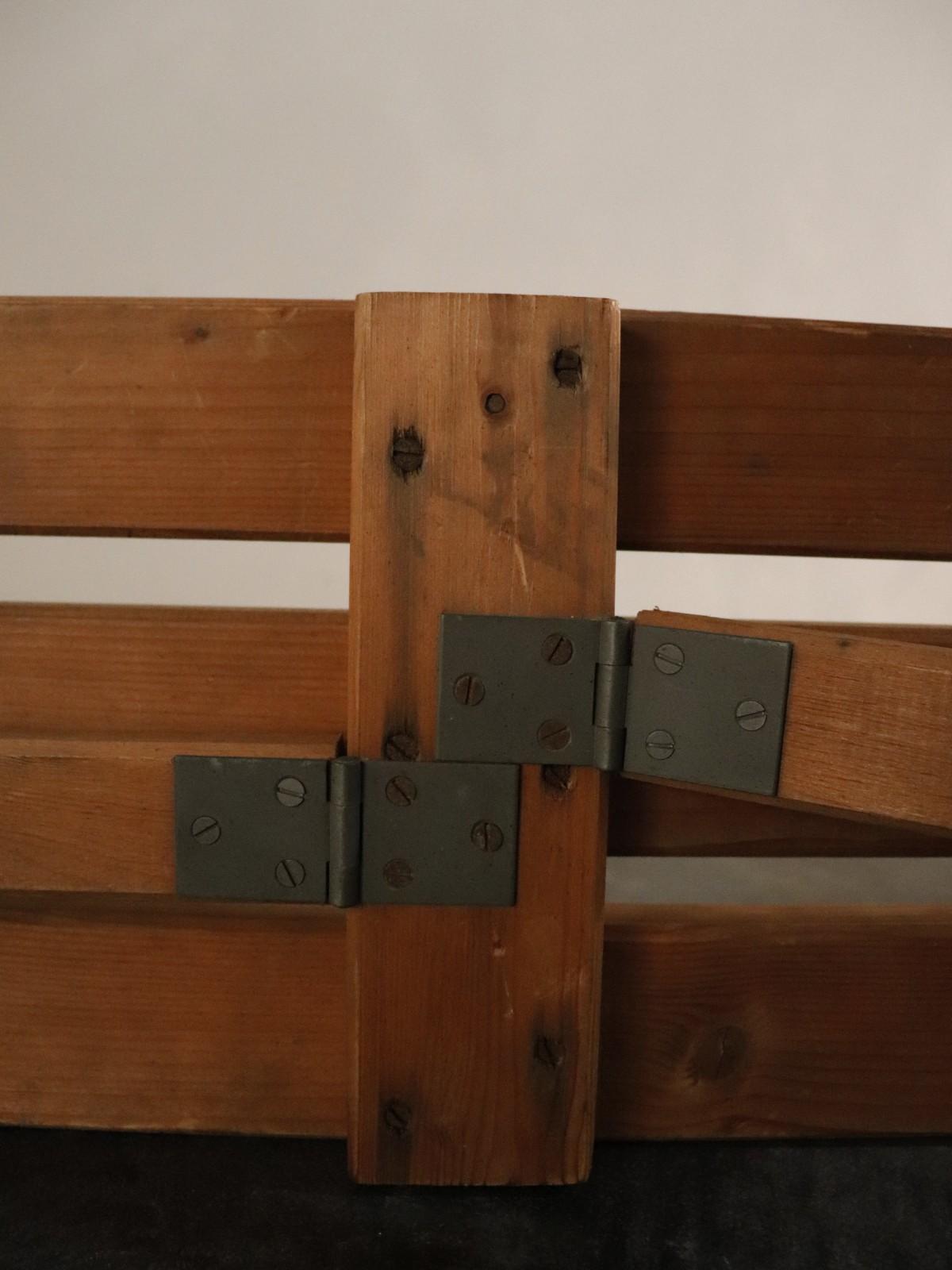 1930's, folding bench, wood bench