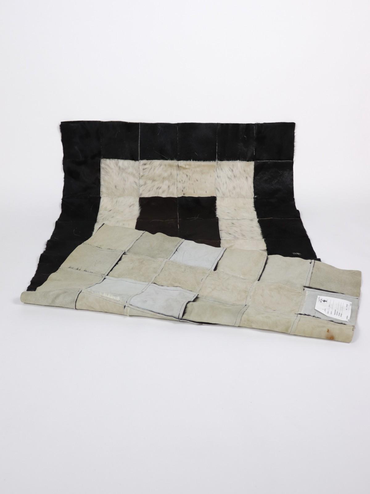 patchwork rug, fur rug, pakistan