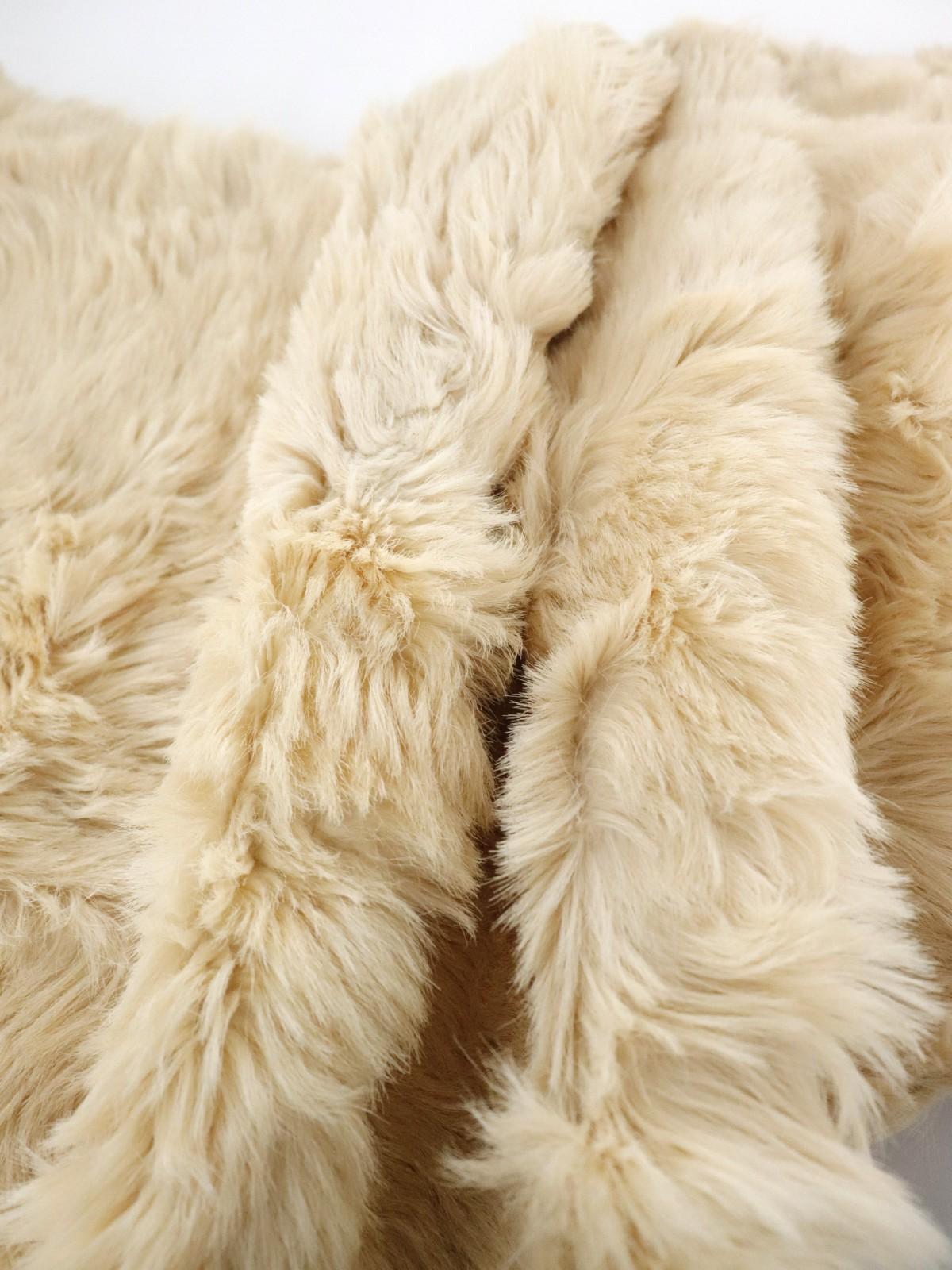 fur rug, europe, vintage rug
