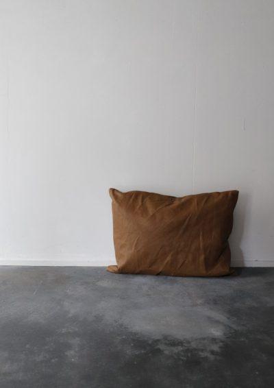 pig suede, cushion, brown.remake