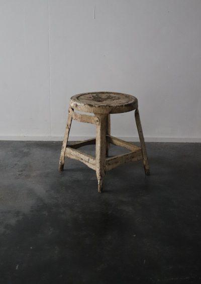Metal stool, metal small table, france