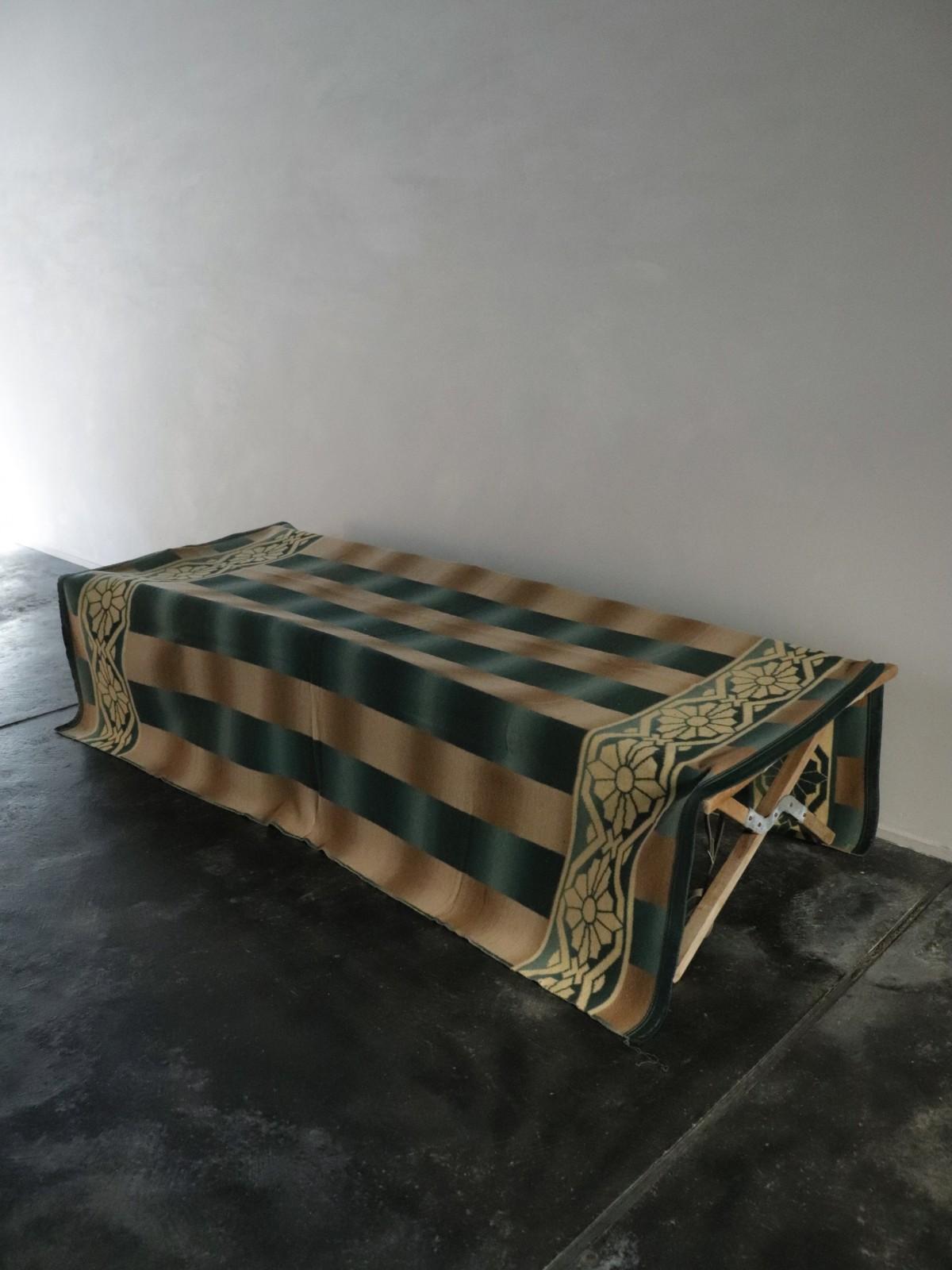 vintage ombre'd plaid blanket, usa, beacon blanket