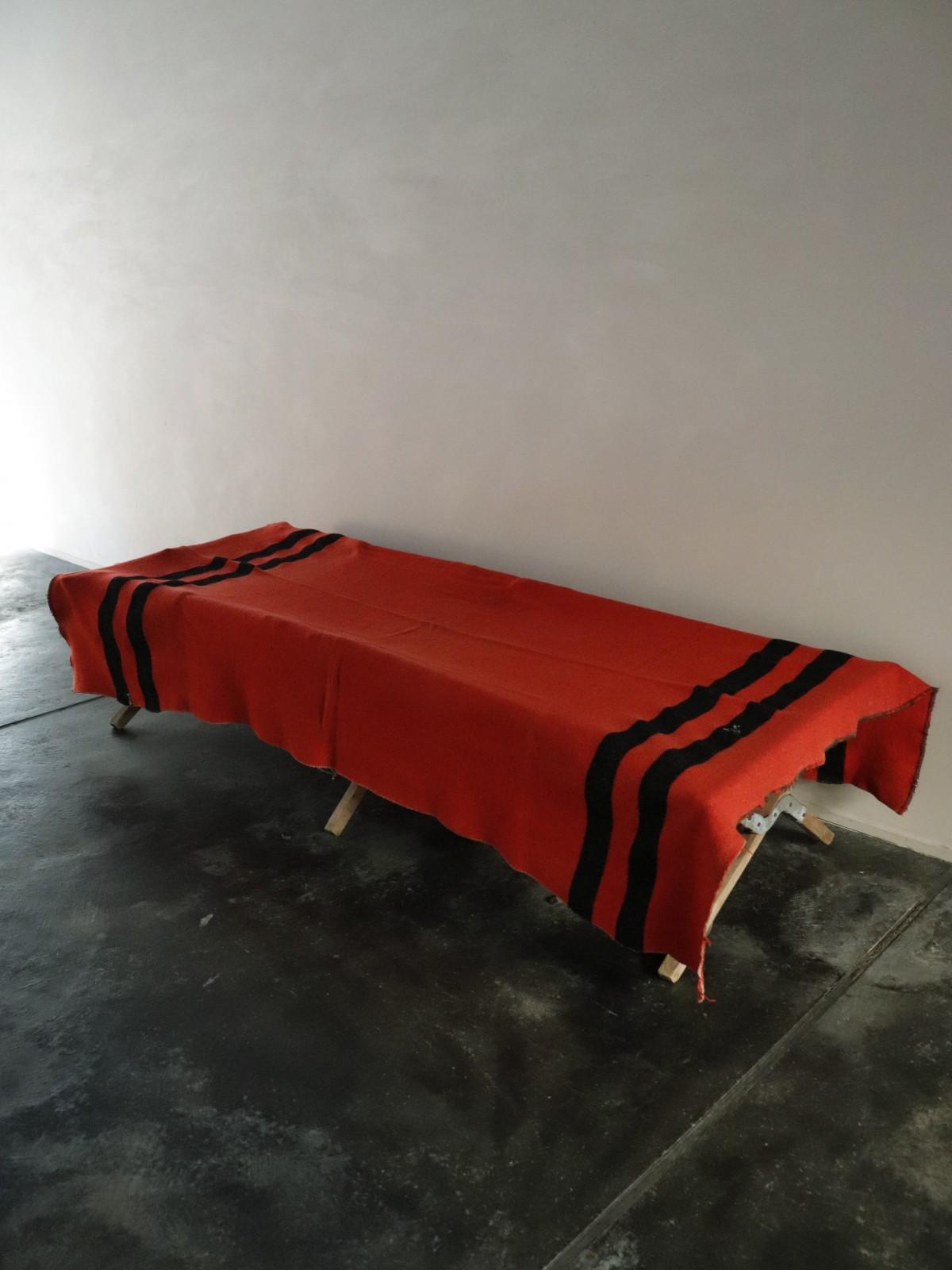red coler blanket, camp blanket, usa
