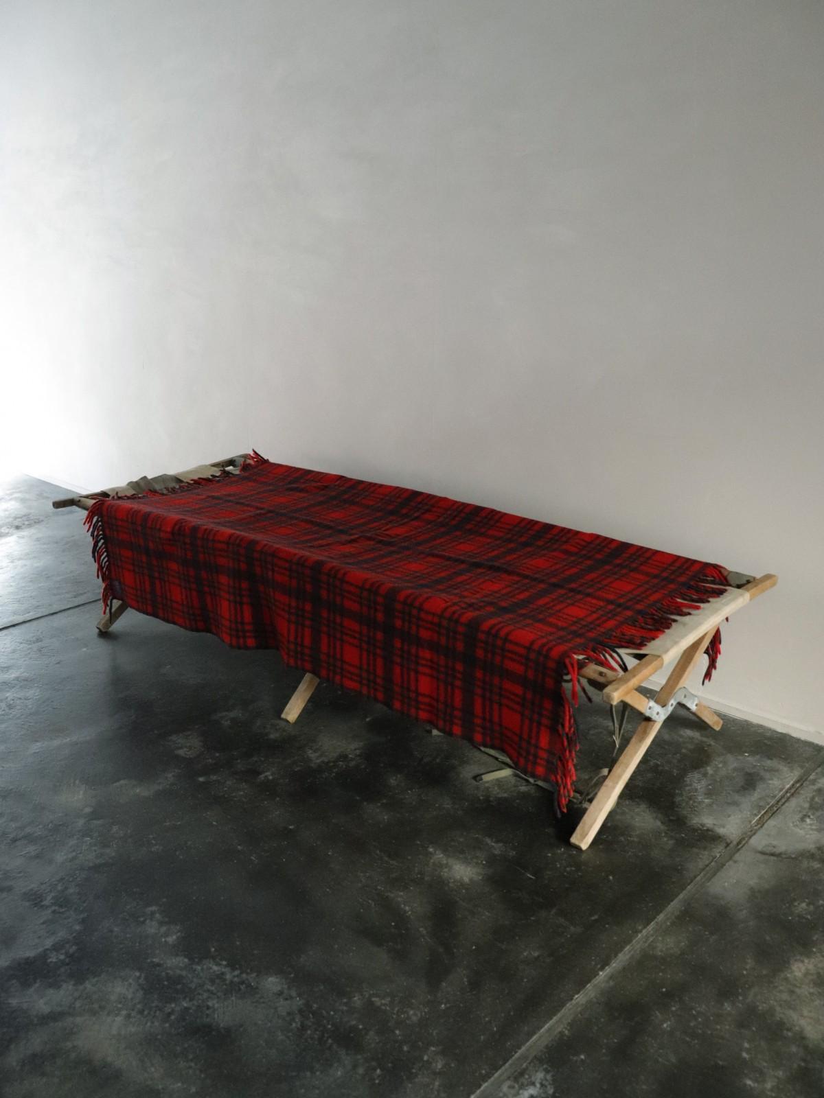 1970's pendleton blanket, plaid blanket, usa