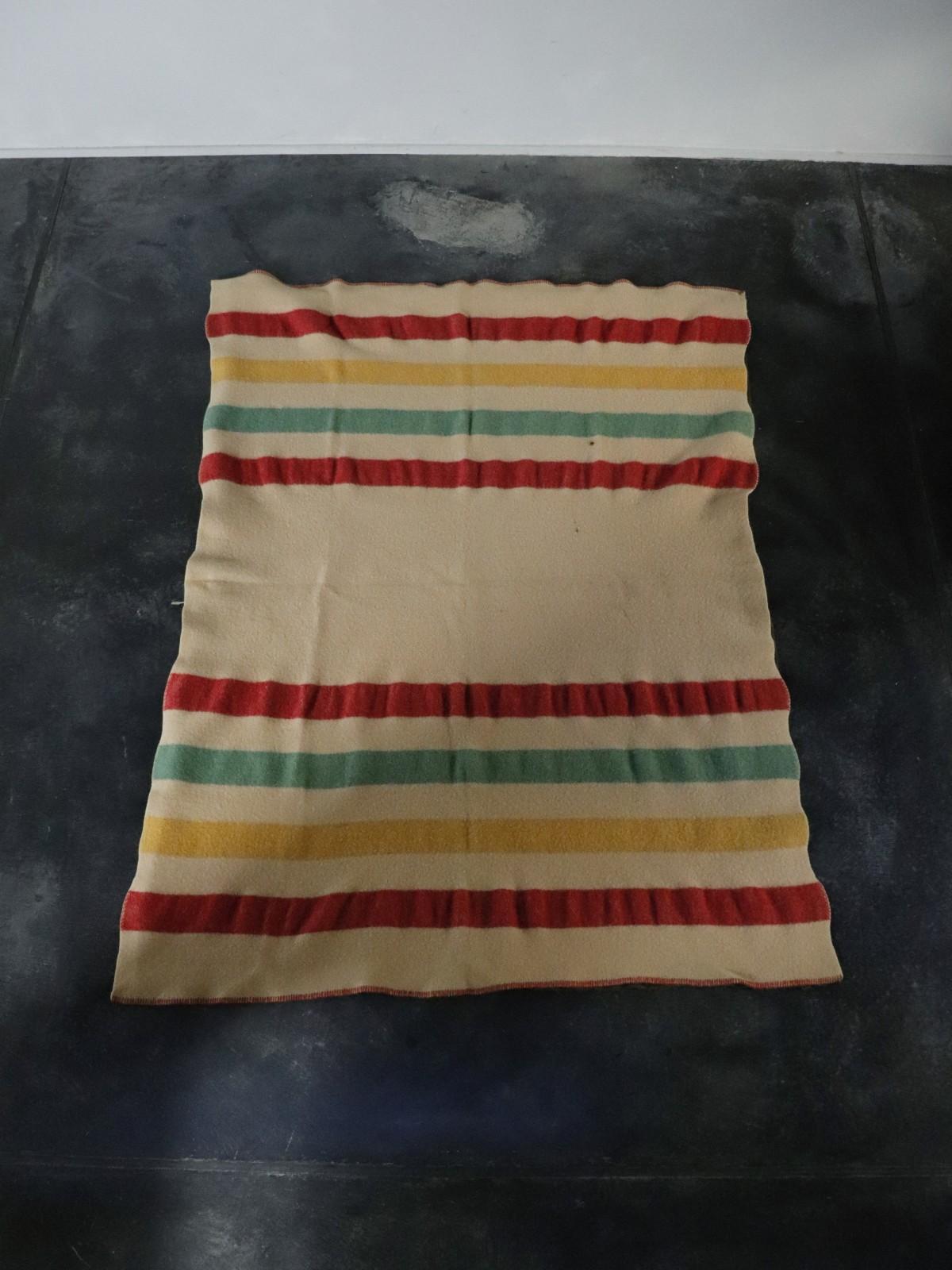 4line blanket, vintage blanket,usa