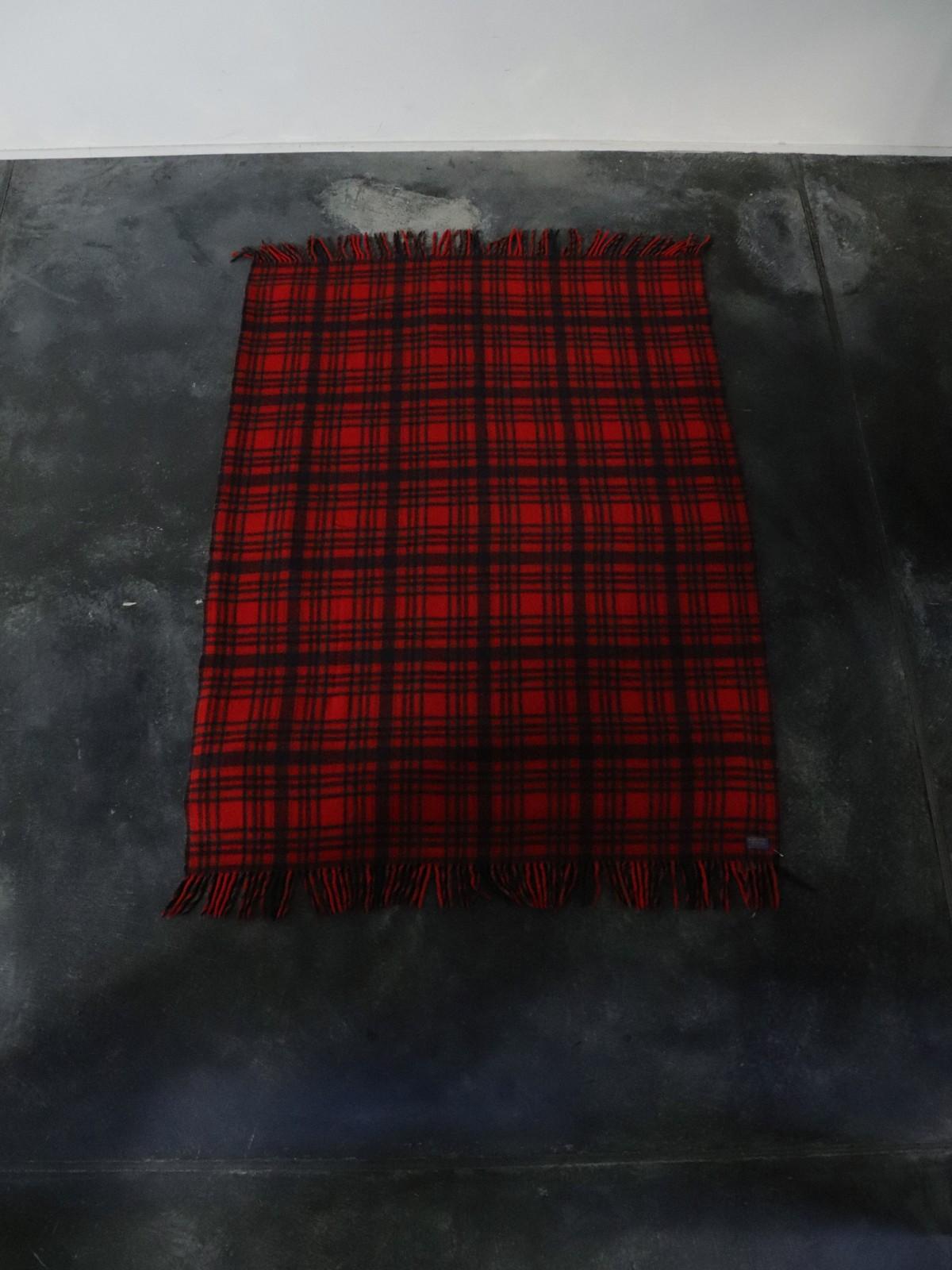 1970's pendleton blanket, usa, wool plaid blanket