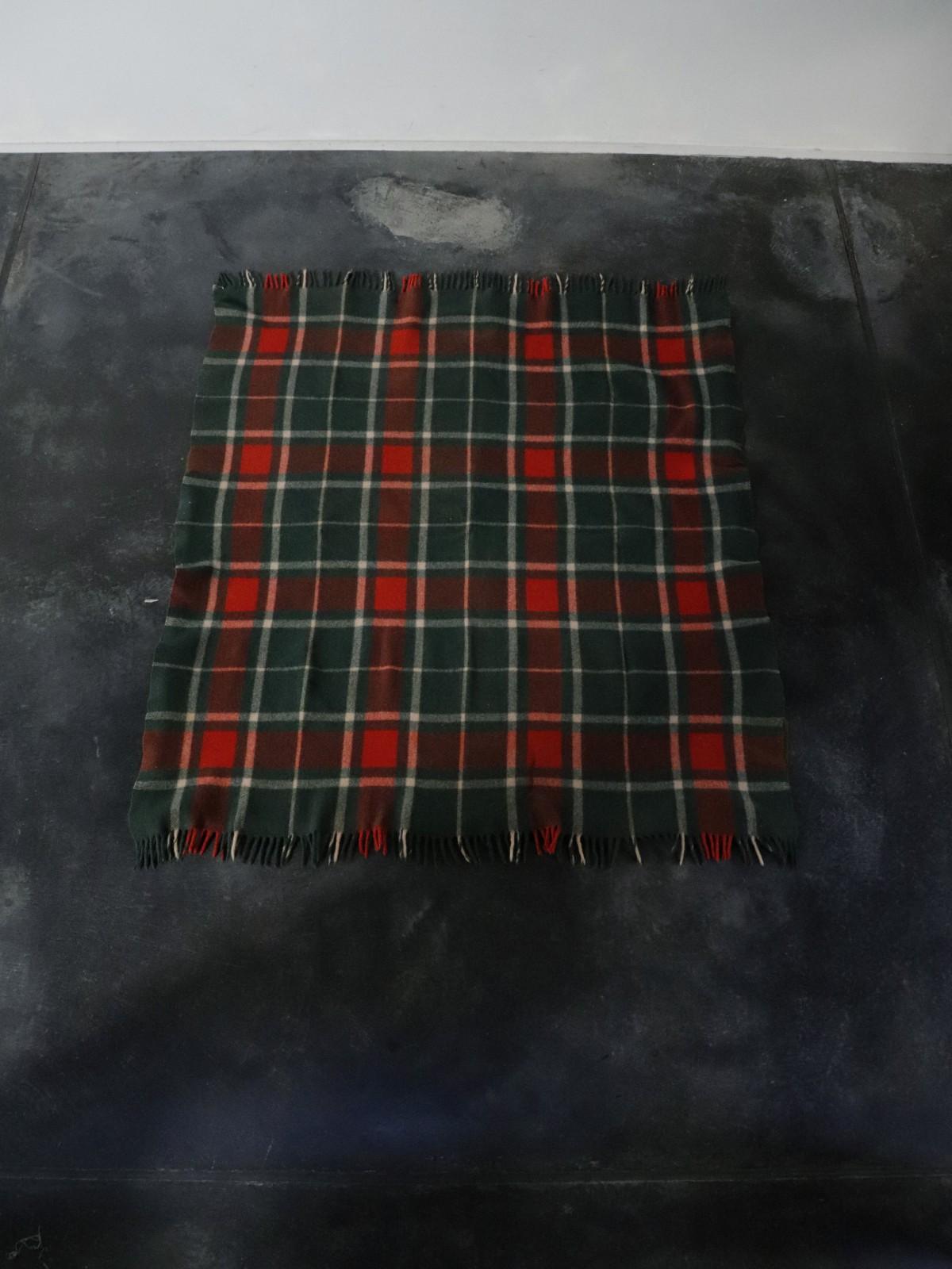 vintage wool blanket, usa, plaid wool blanket