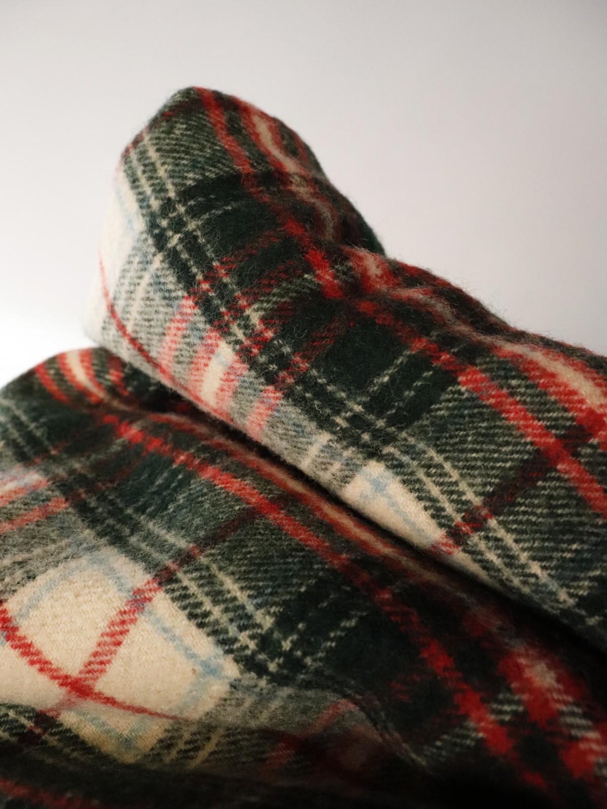 tartan check blanket, usa, vintage blanket