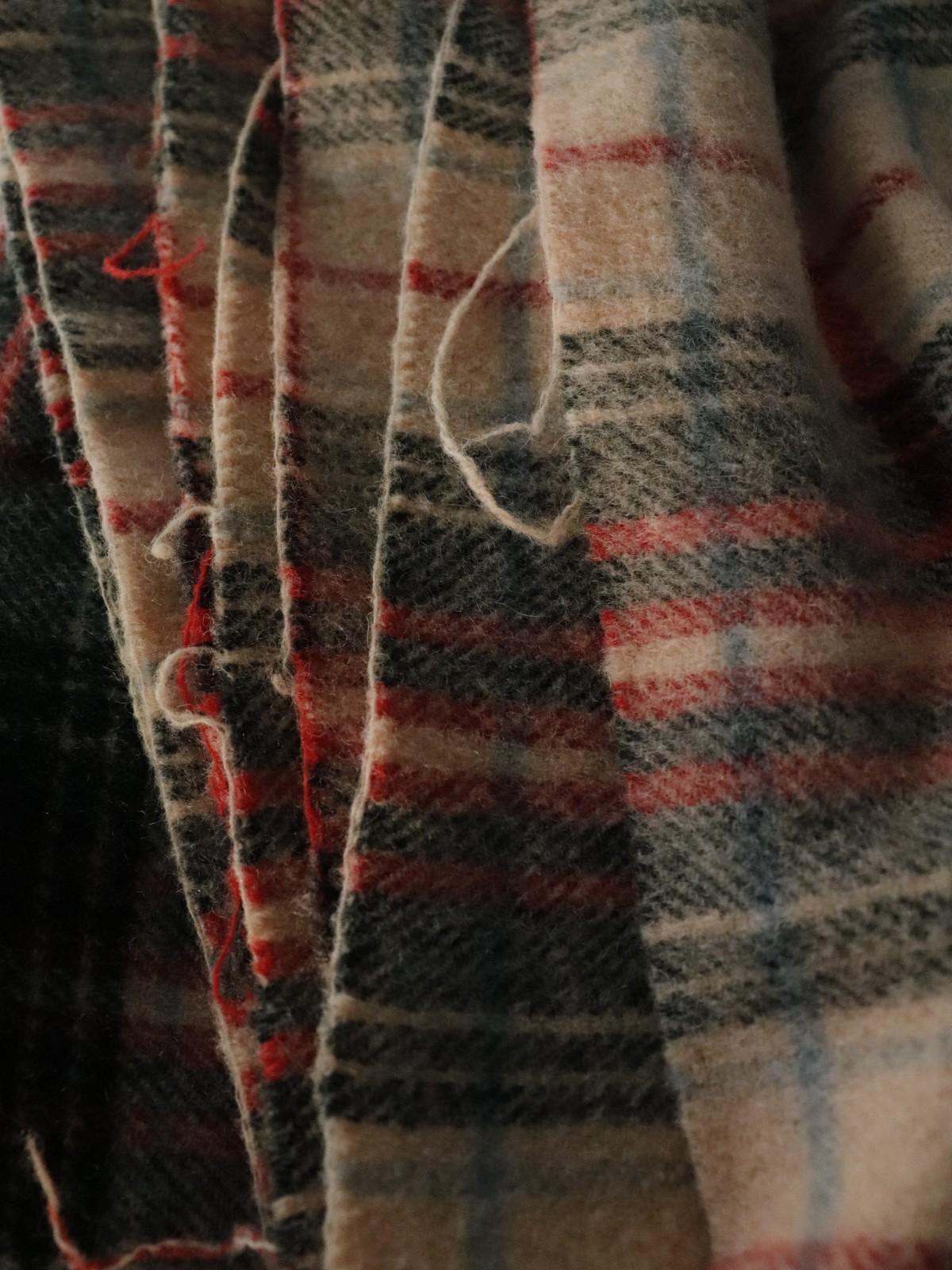 tartan check blanket,usa, vintage blanket