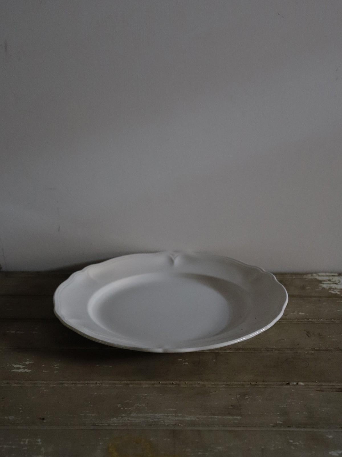 vintage france, round plate