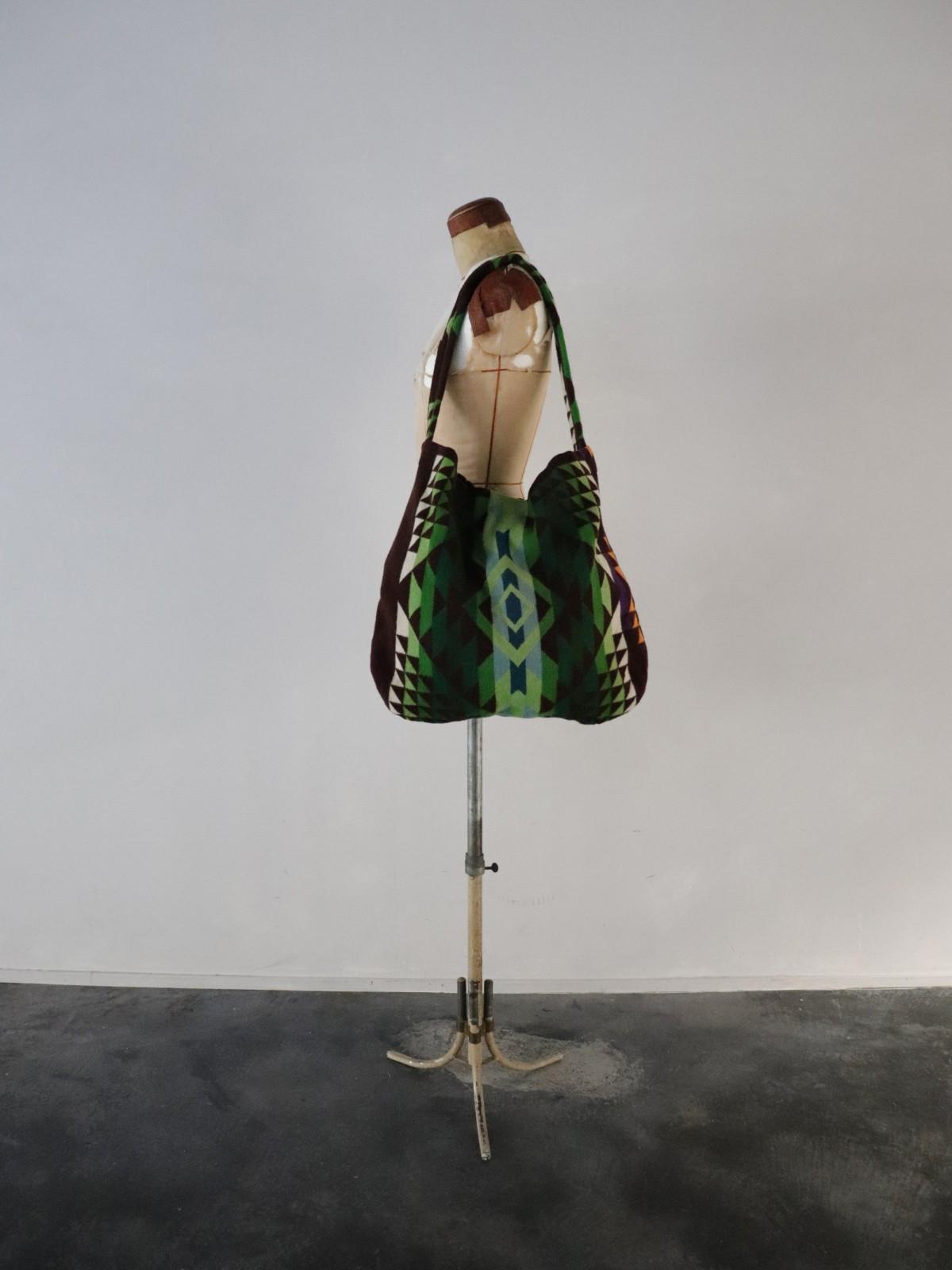 1970's, pendleton fabric, bag, brown.remake