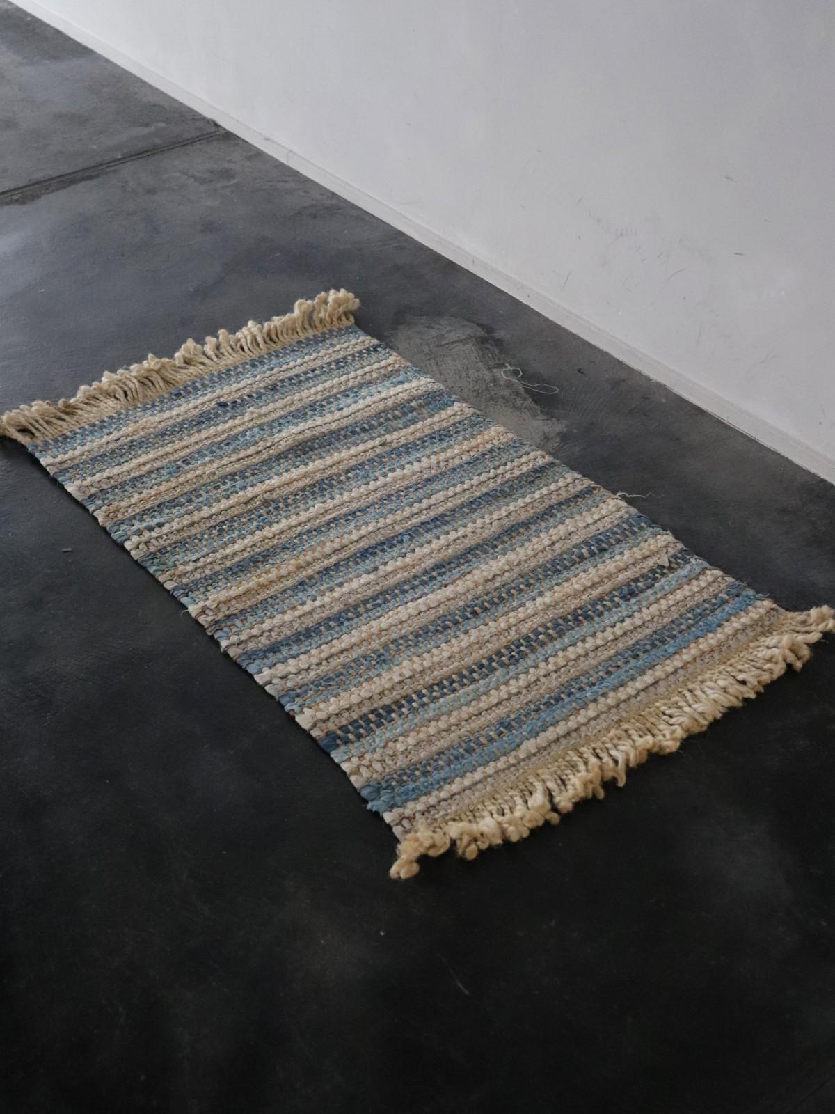 ragrug, small rug, natural fiber material
