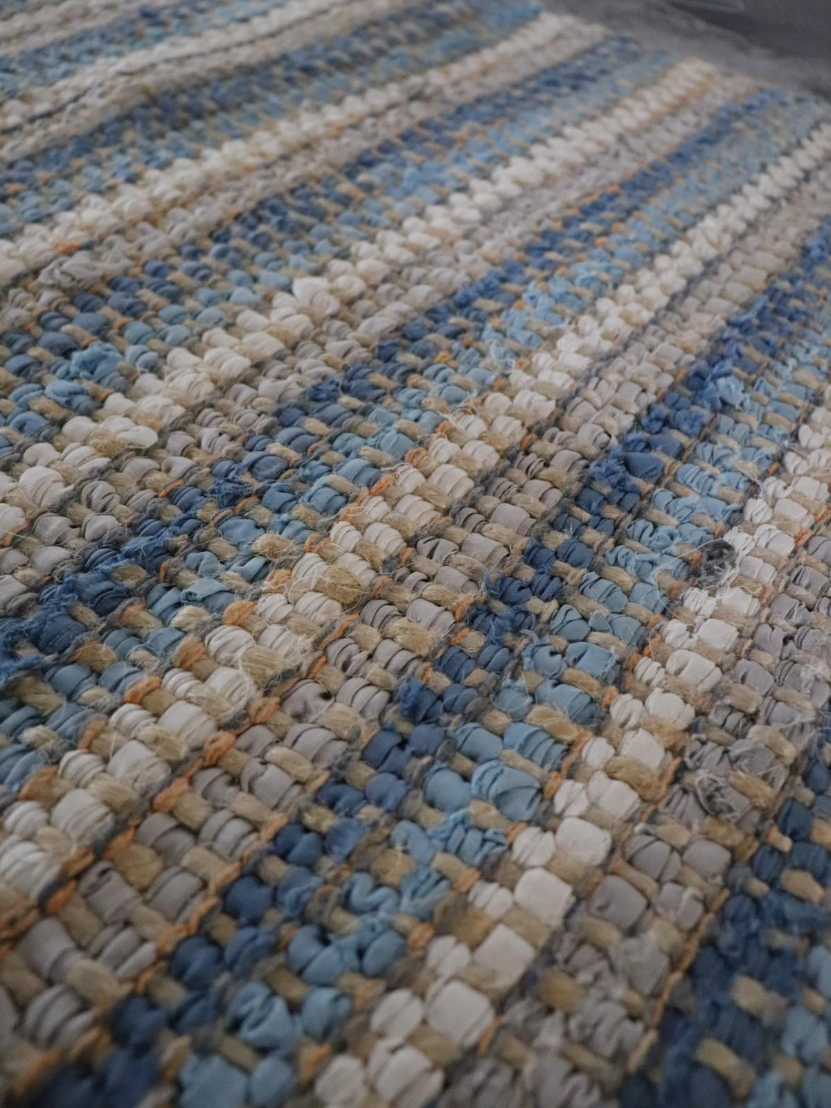 rag rug, natural fiber materual, small rug