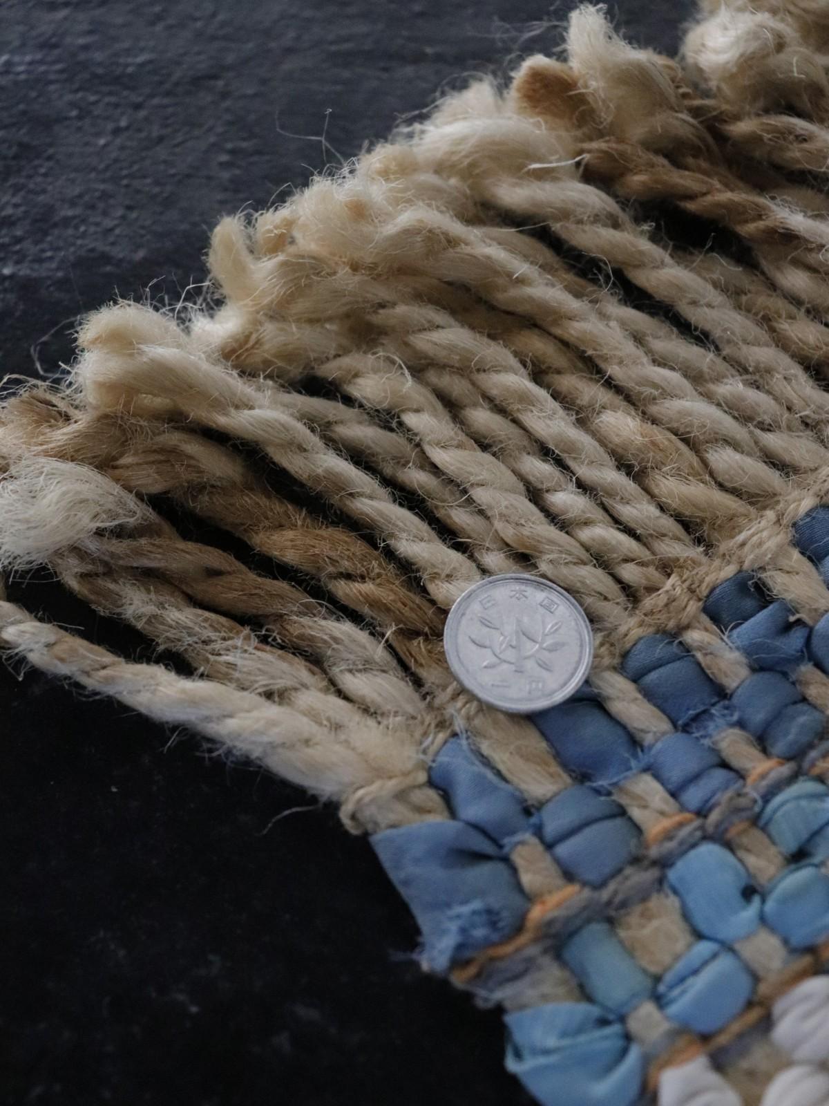 rag rug, small rug, natural fiber material