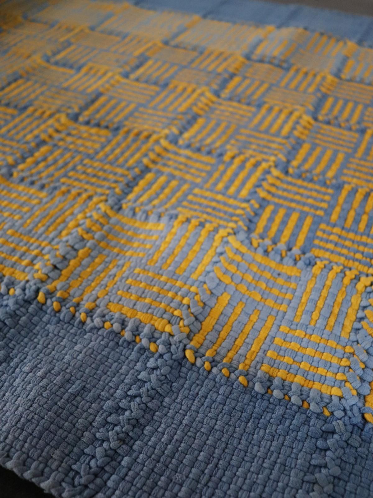 rag rug, usa, handmade, vintage ,cotton rug