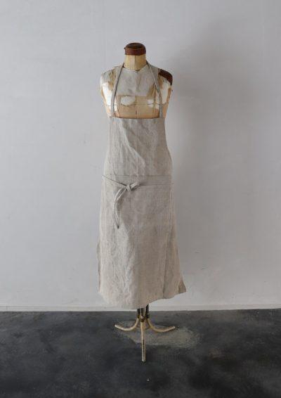 dead stock linen, apron, brownremake,