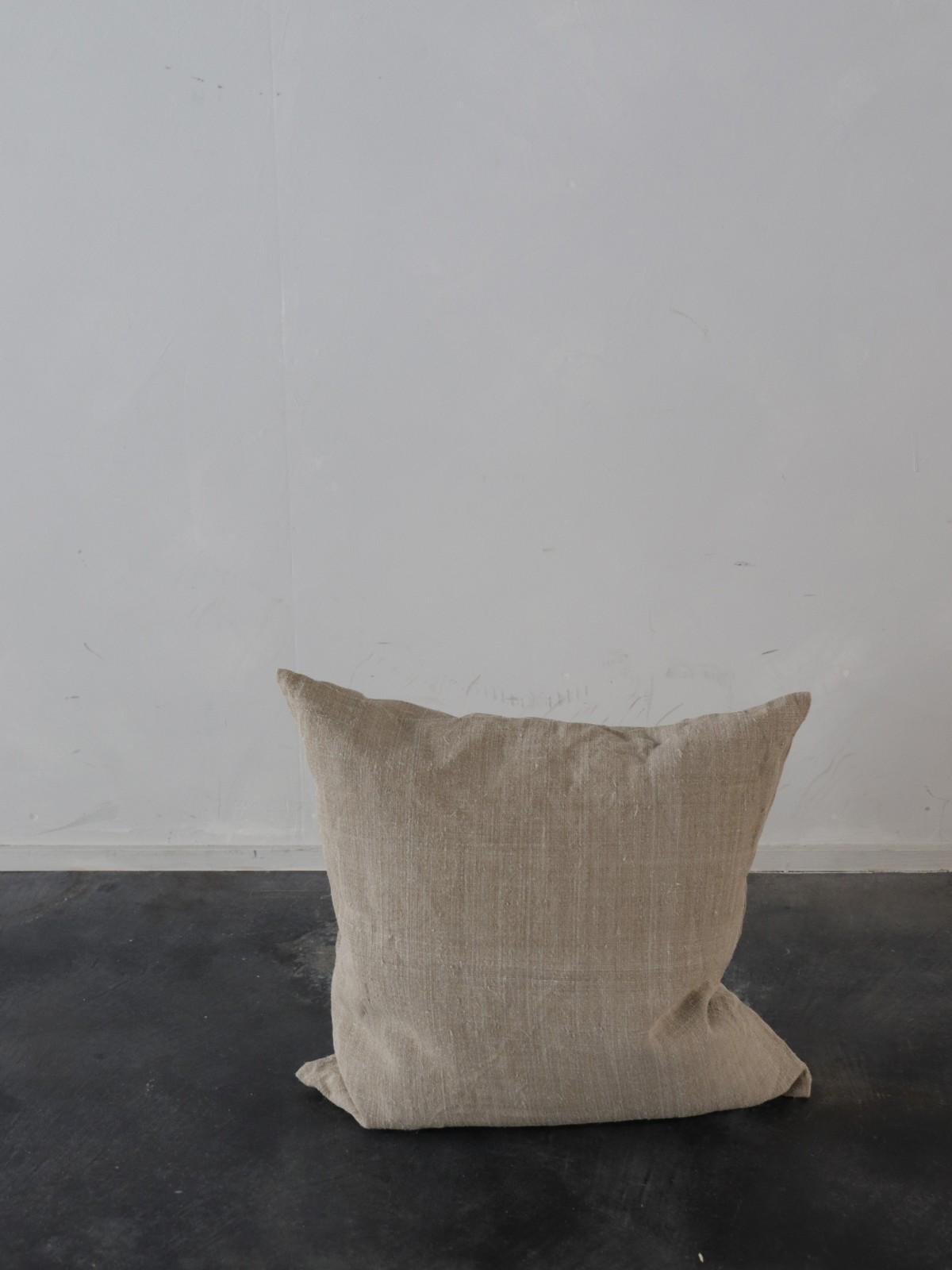 dead stock linen, uklaine,cushion, brownremake