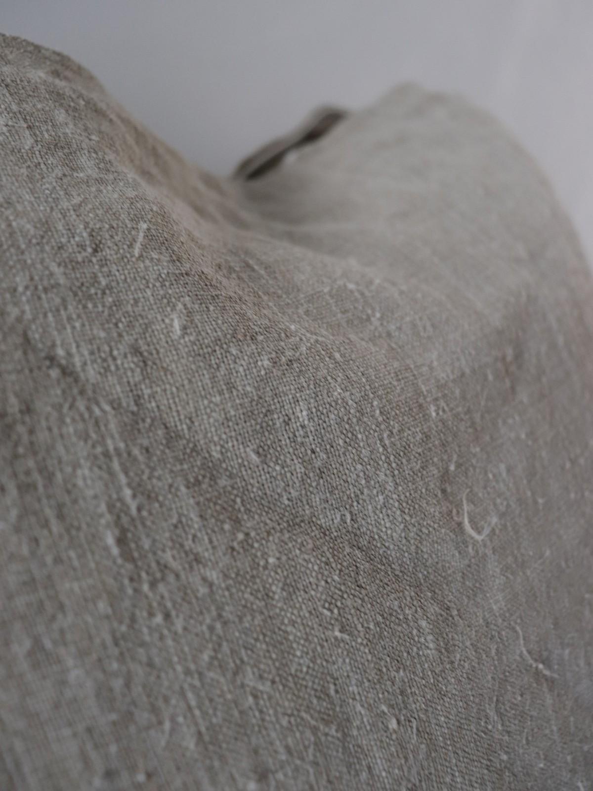 dead stock linen , uklaine, cushion, brownremake