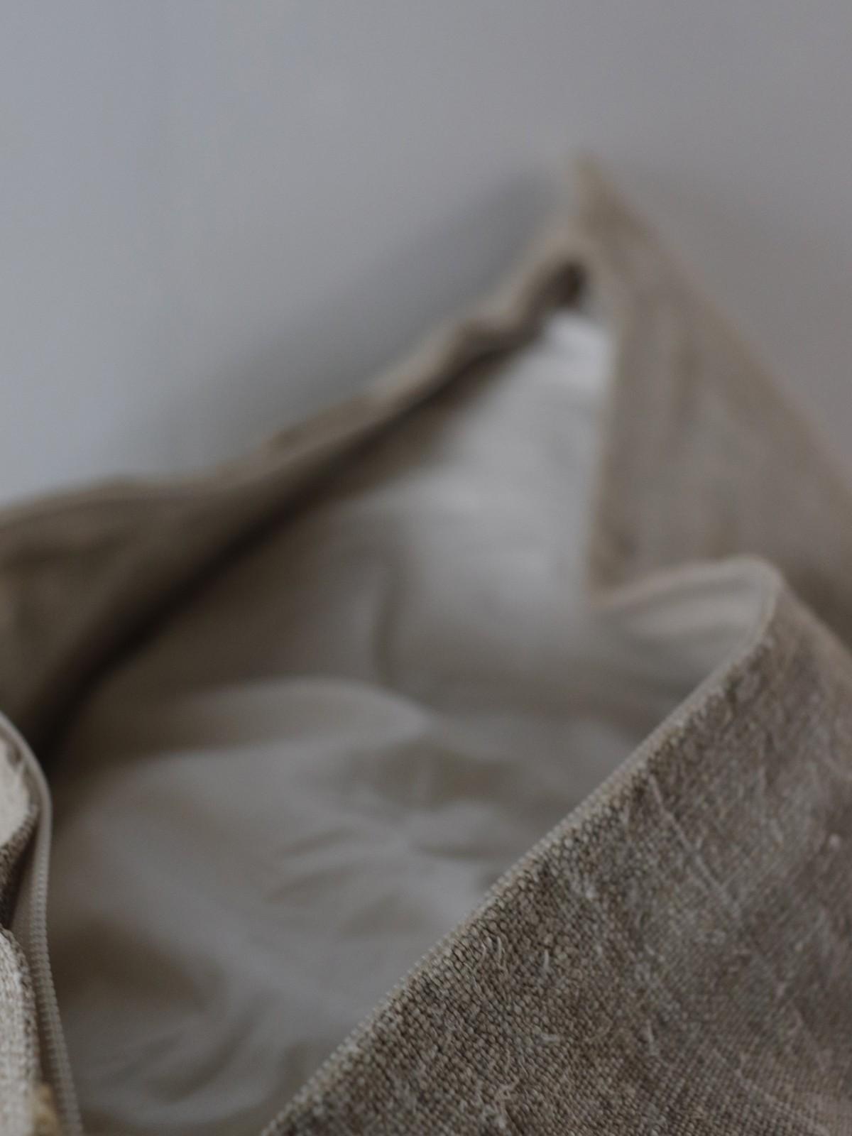 dead stock linen, uklaine, cushion, brownremake