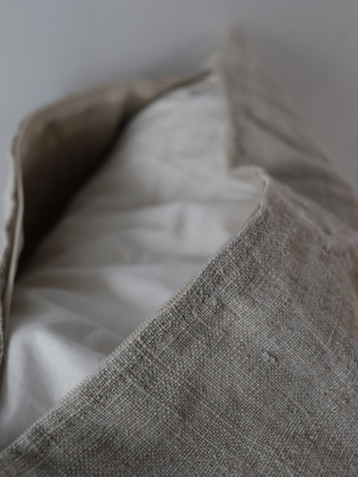 dead stock linen,uklaine, brownremake, cushion