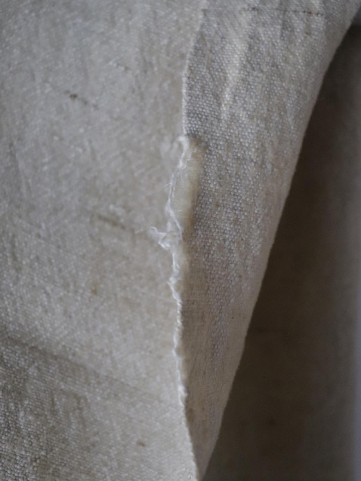 19th century , homespun fabric, wool linen fabric, french fabric