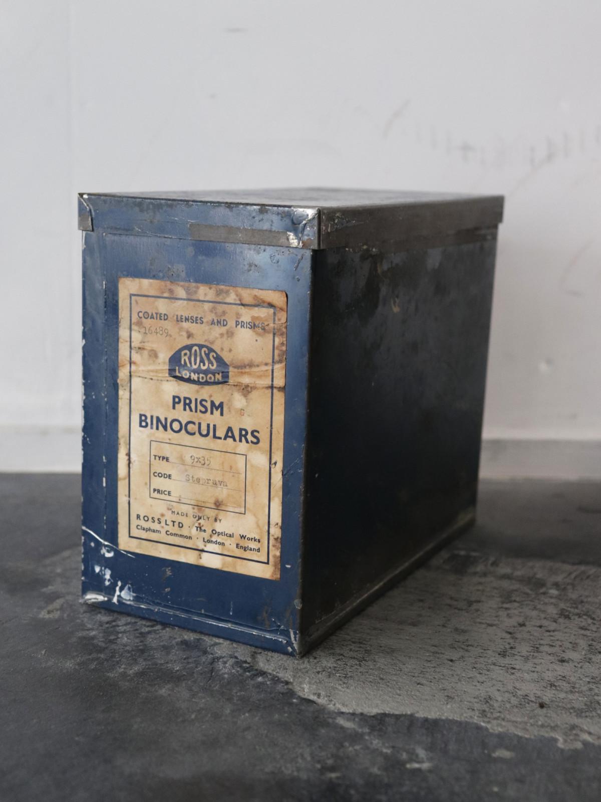 vintage metal box, ross london, england