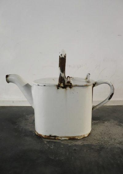 enamel watering can, vintage jug, england