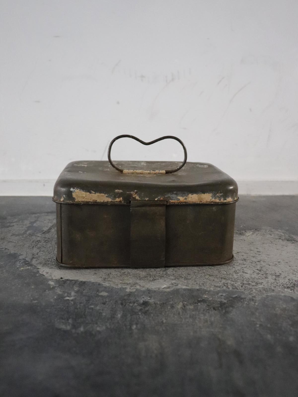 tin box, metal, europe