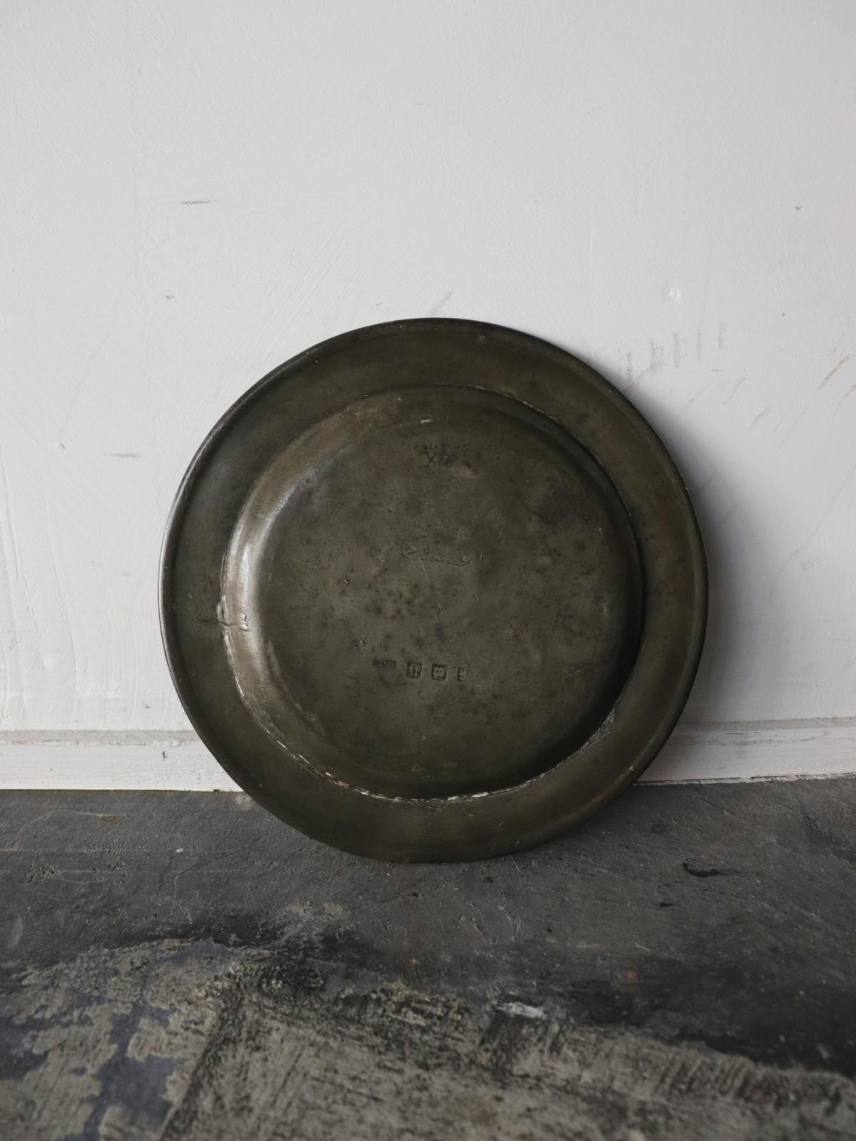 vintage pewter, pewter plate, france